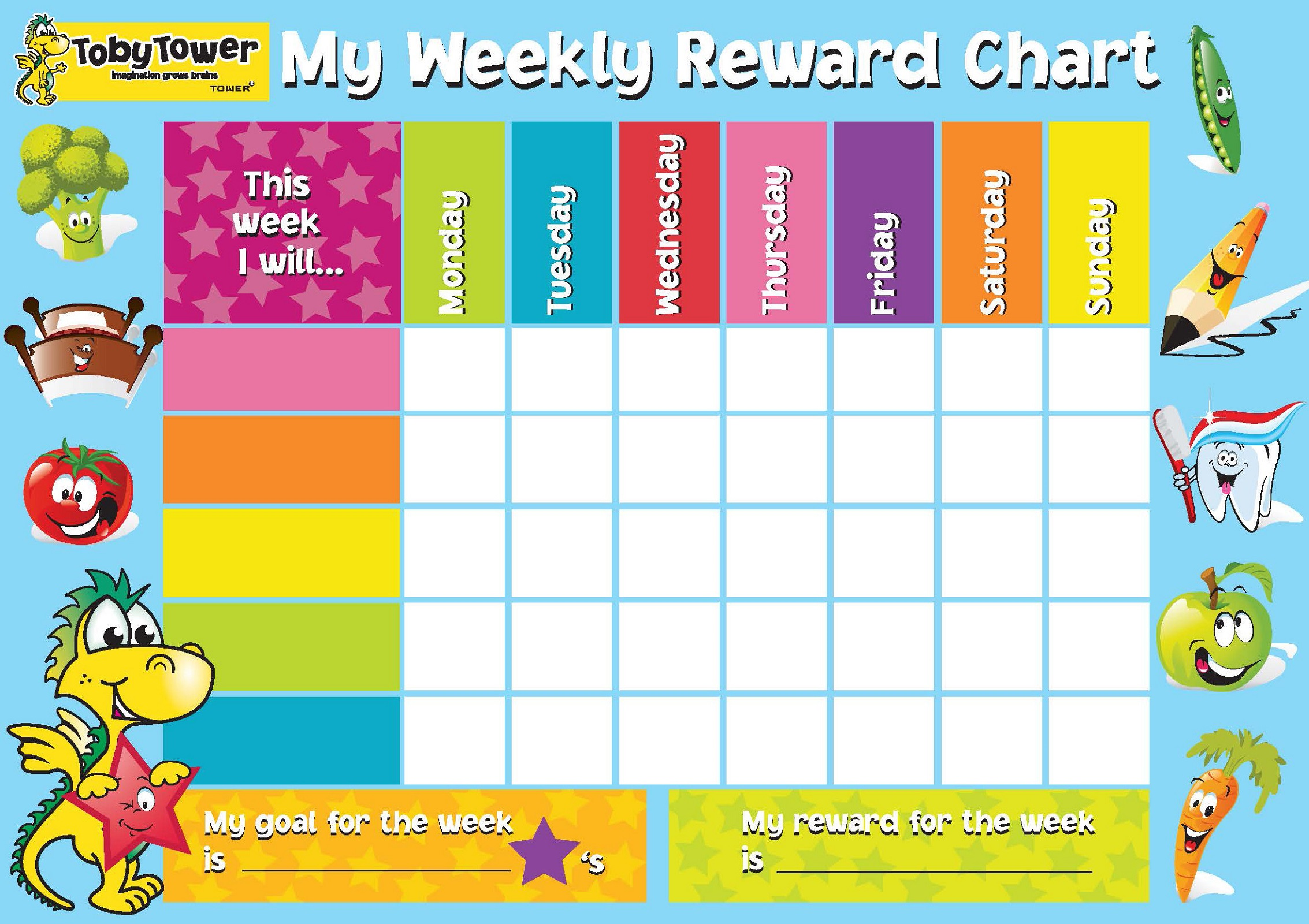Children Rewards Charts  Kids Behavior Chart Template