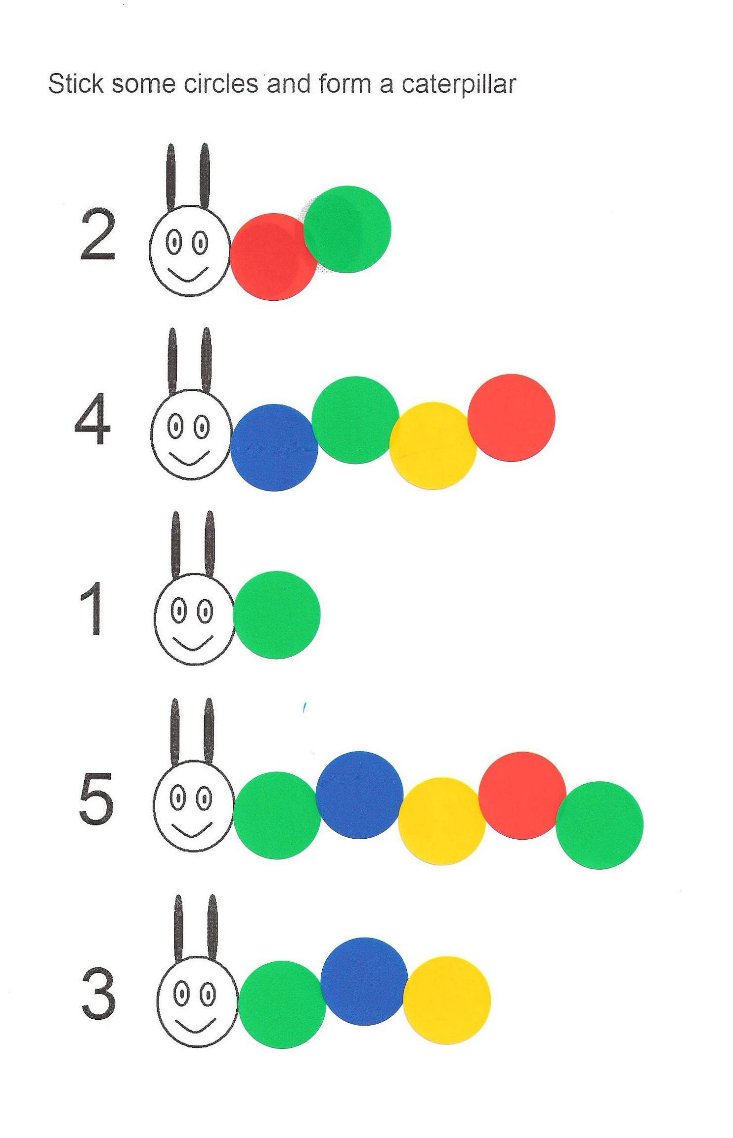 same different worksheets caterpillar