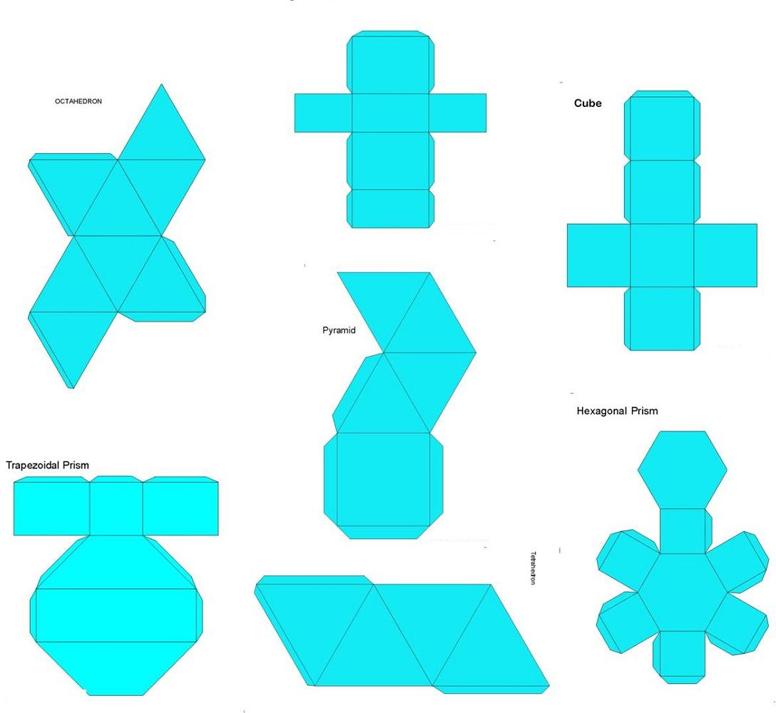 shape nets blue theme