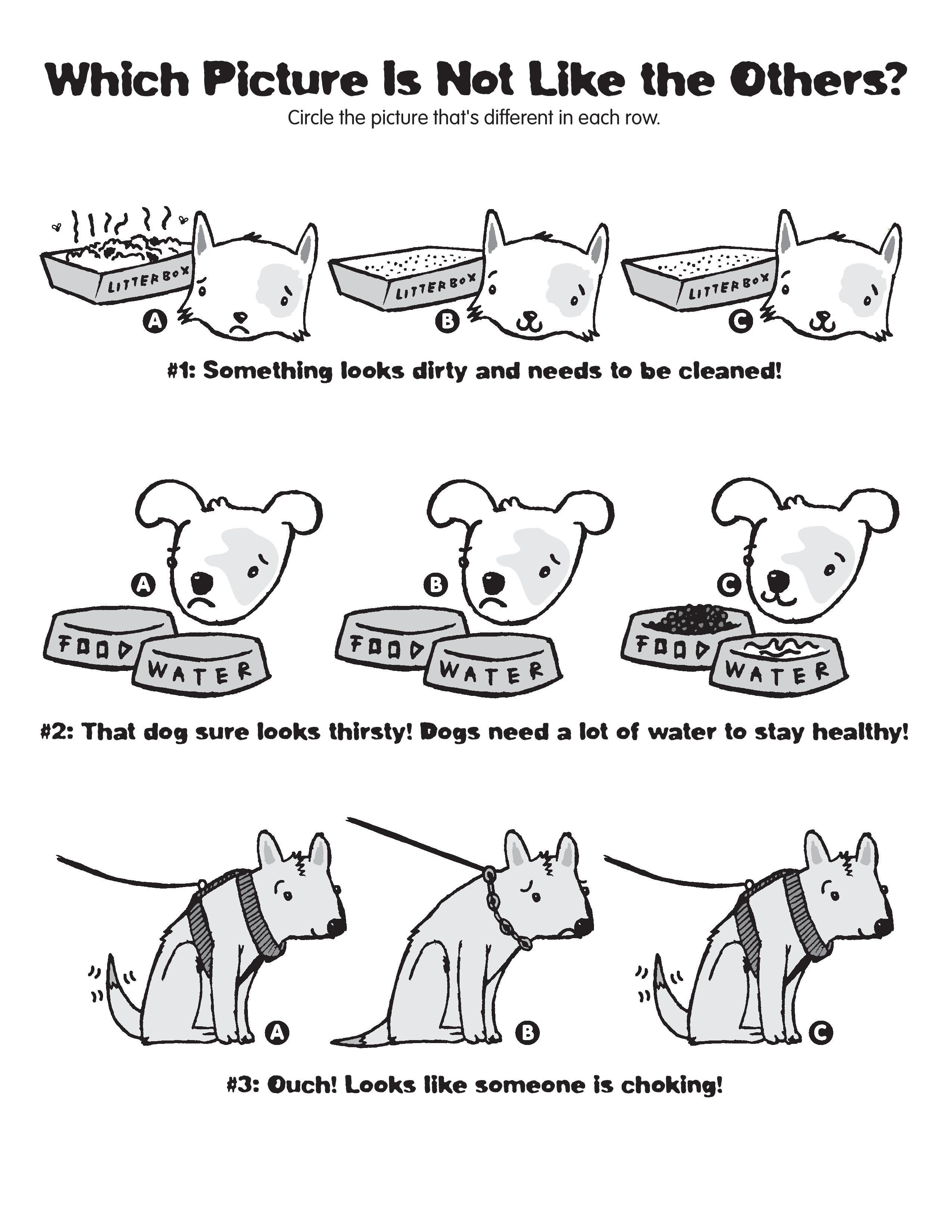 spot the difference worksheets dogs