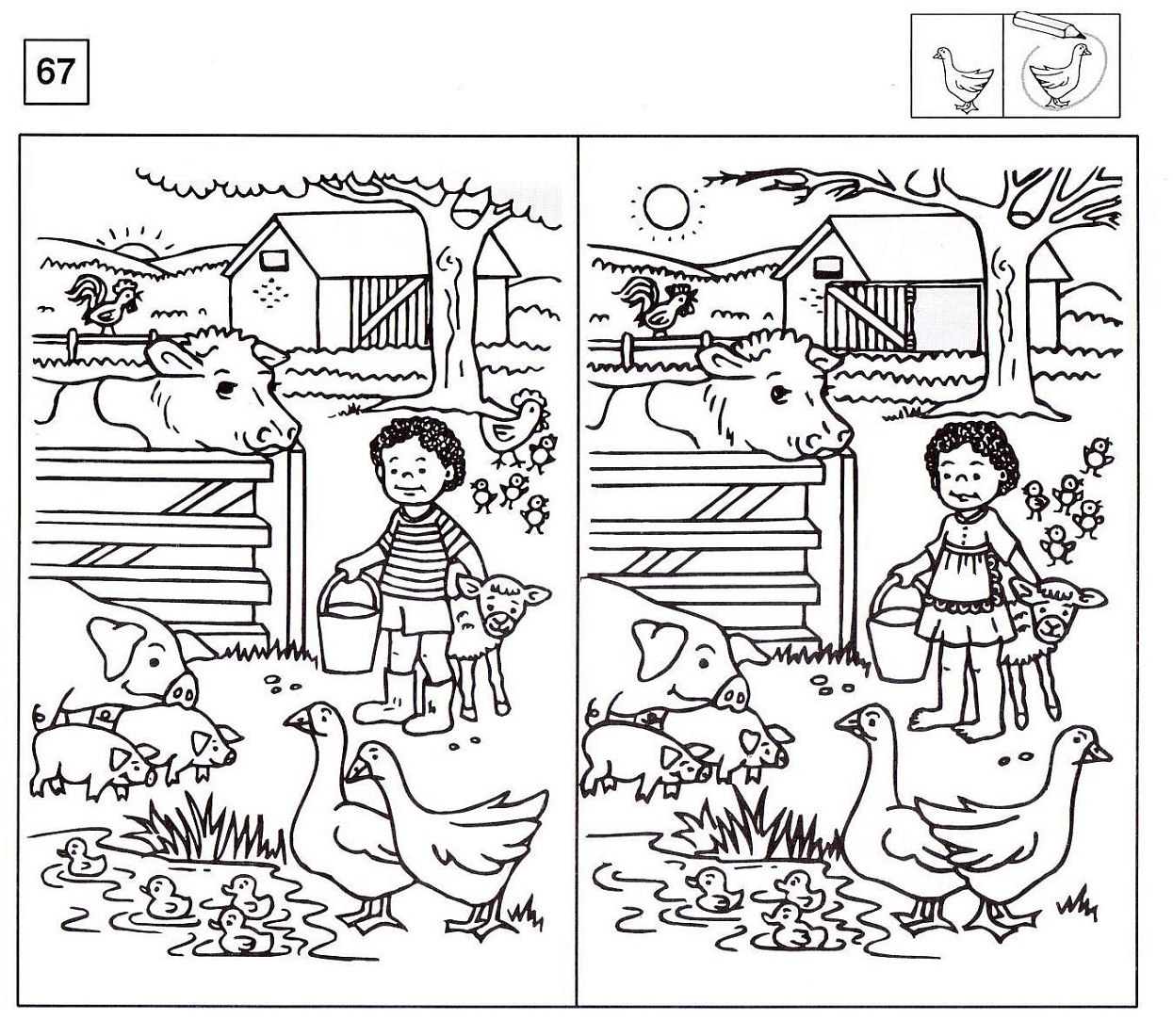 spot the difference worksheets garden