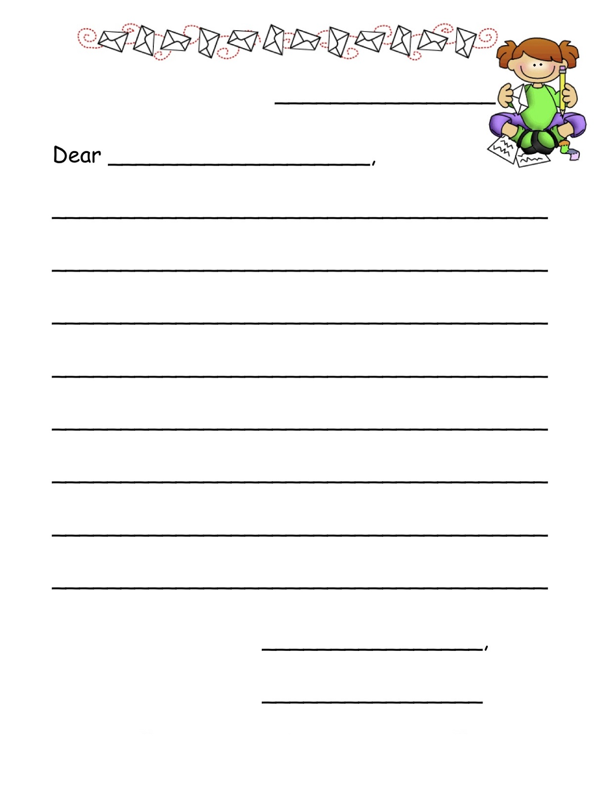 templates for kids for writing