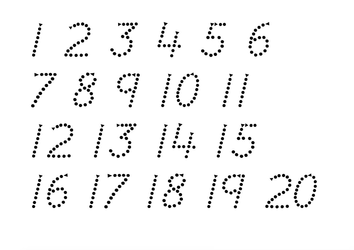 Trace Numbers To Learn on printable letters to trace