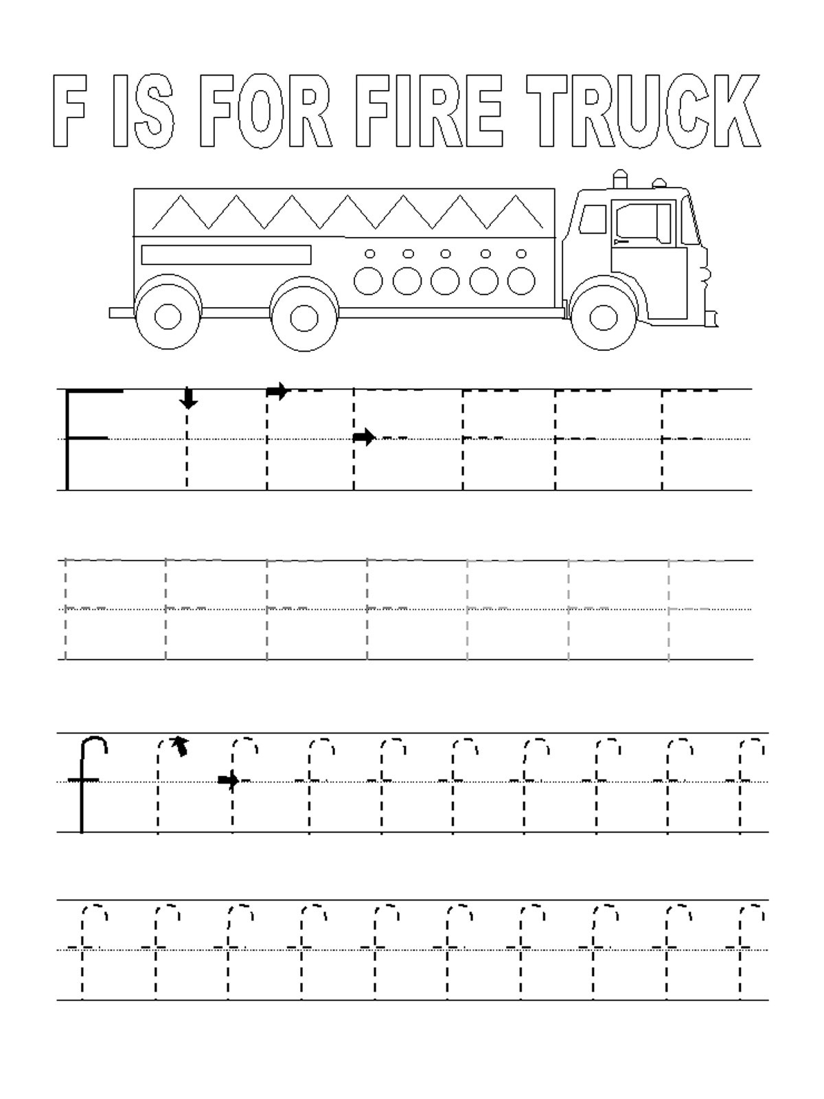 traceable letters free firetruck