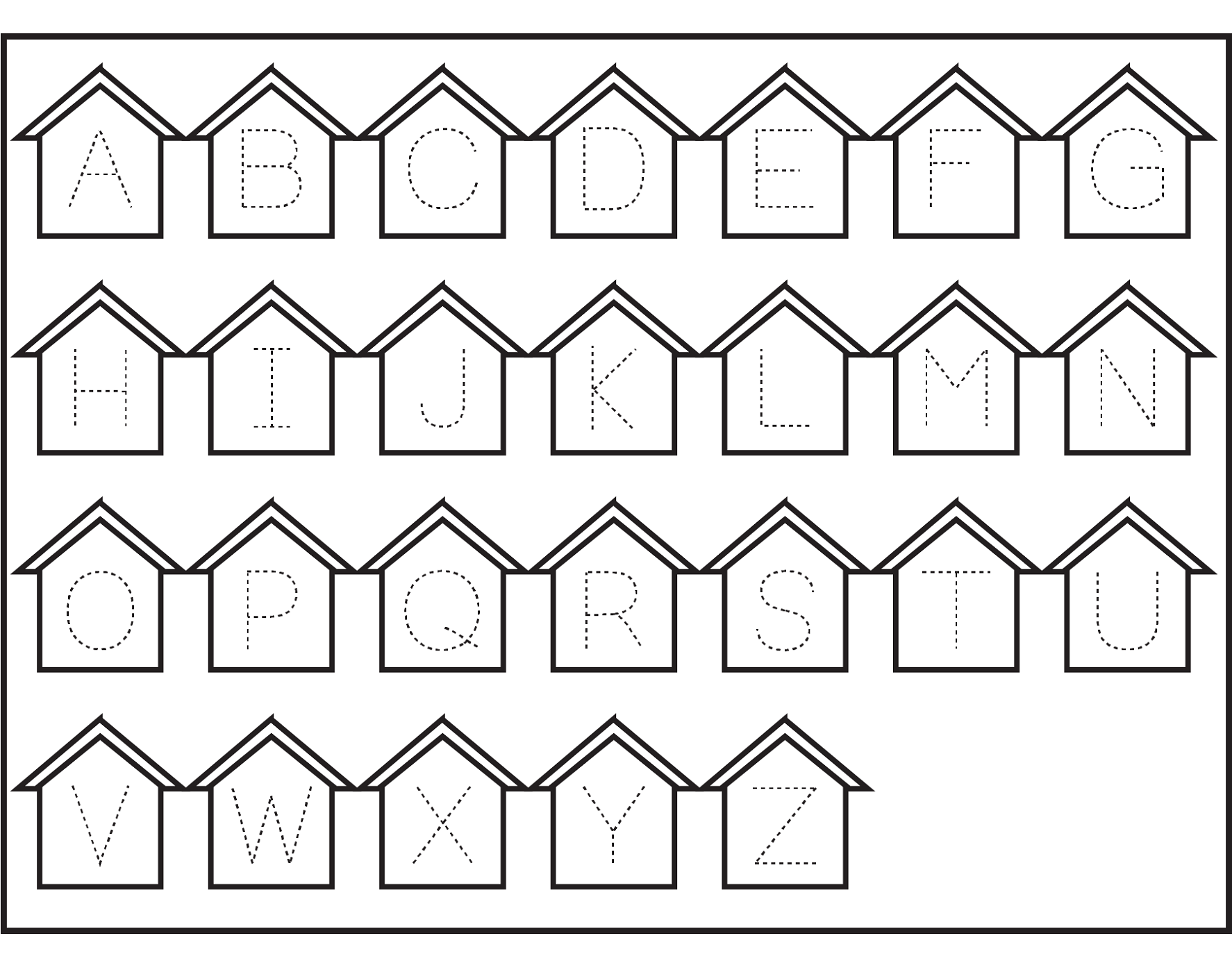 traceable letters worksheets for practice