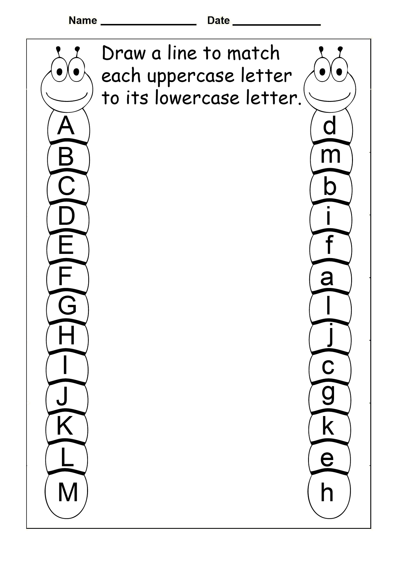 Printable Uppercase And Lowercase Letters  Activity Shelter