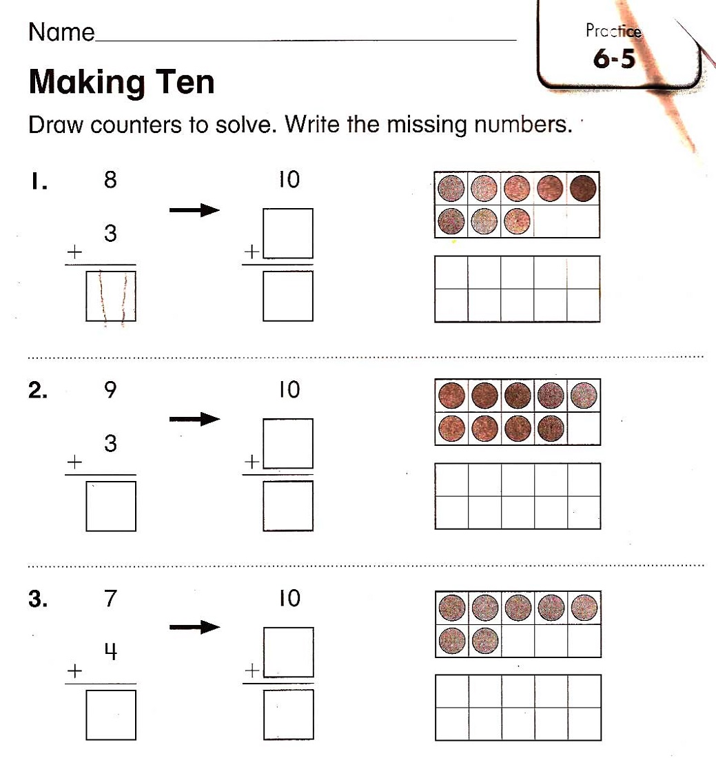 worksheets for 4 year olds for math