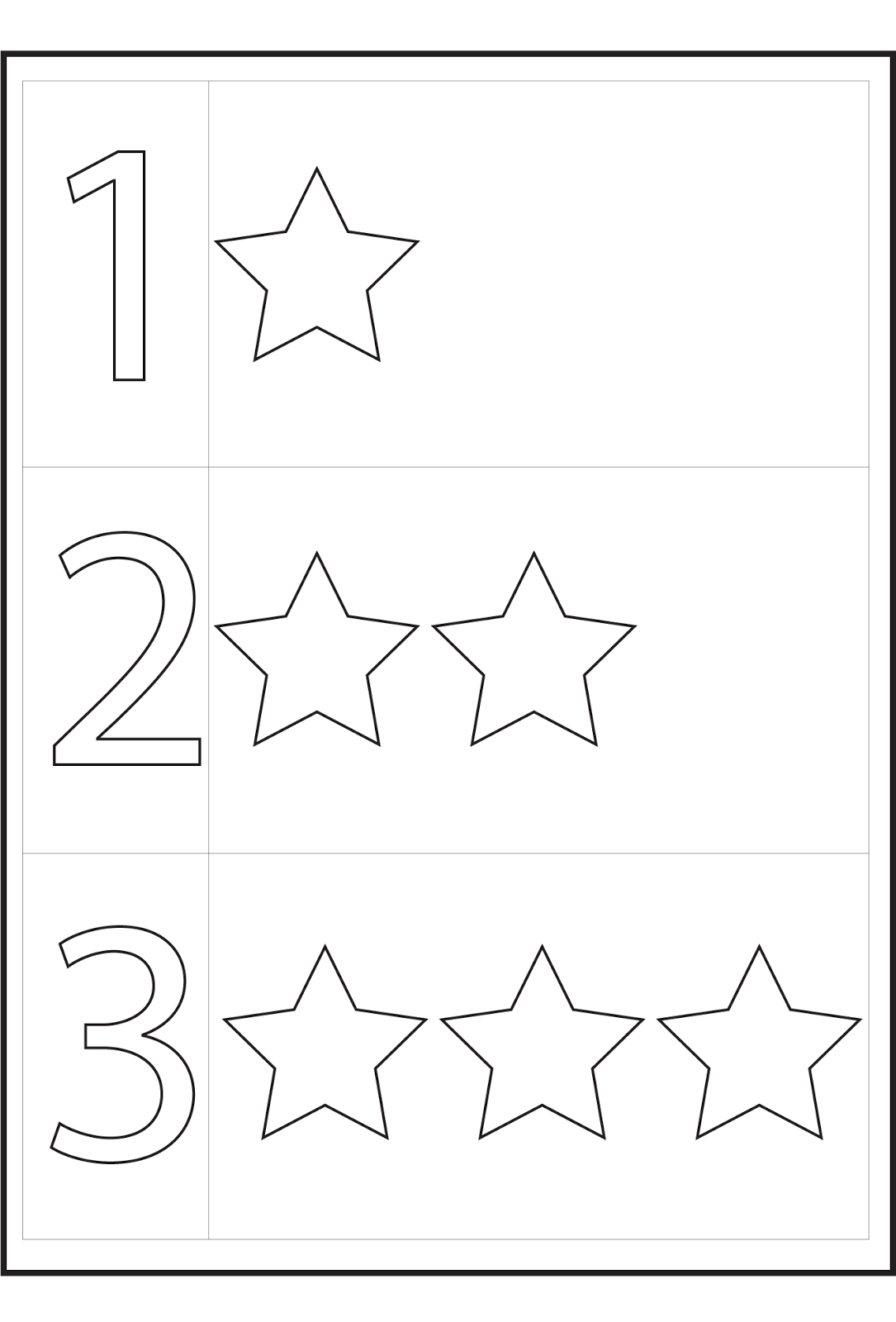 worksheets for 4 year olds stars
