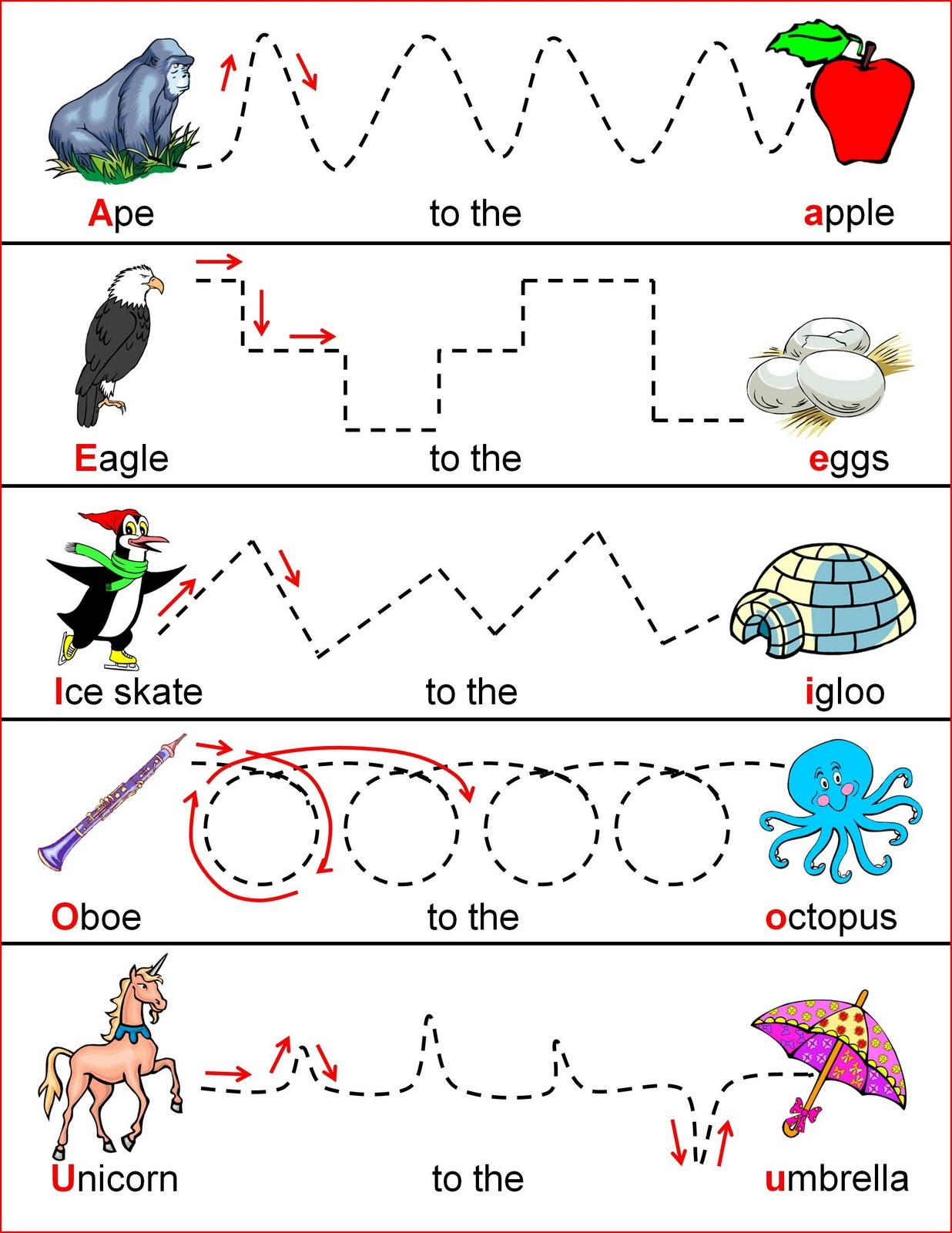 worksheets for 4 year olds tracing