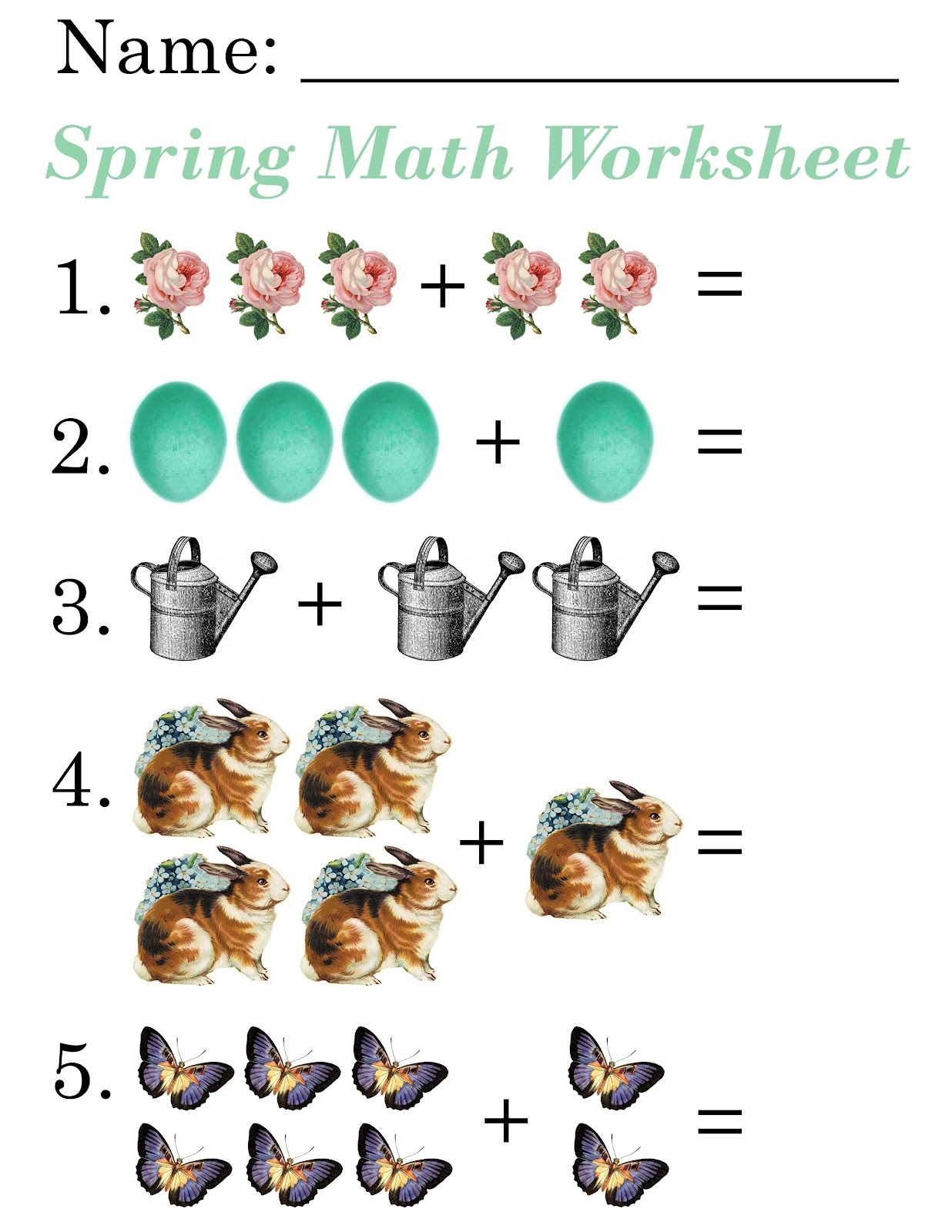 worksheets for 5 year olds practice