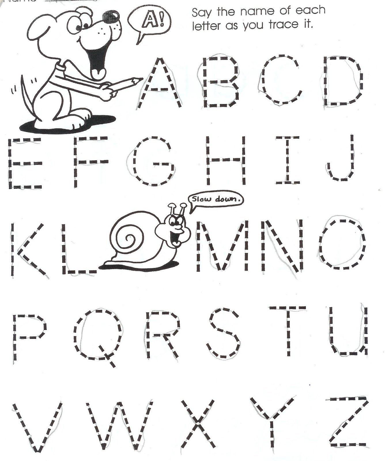 worksheets for 5 year olds tracing