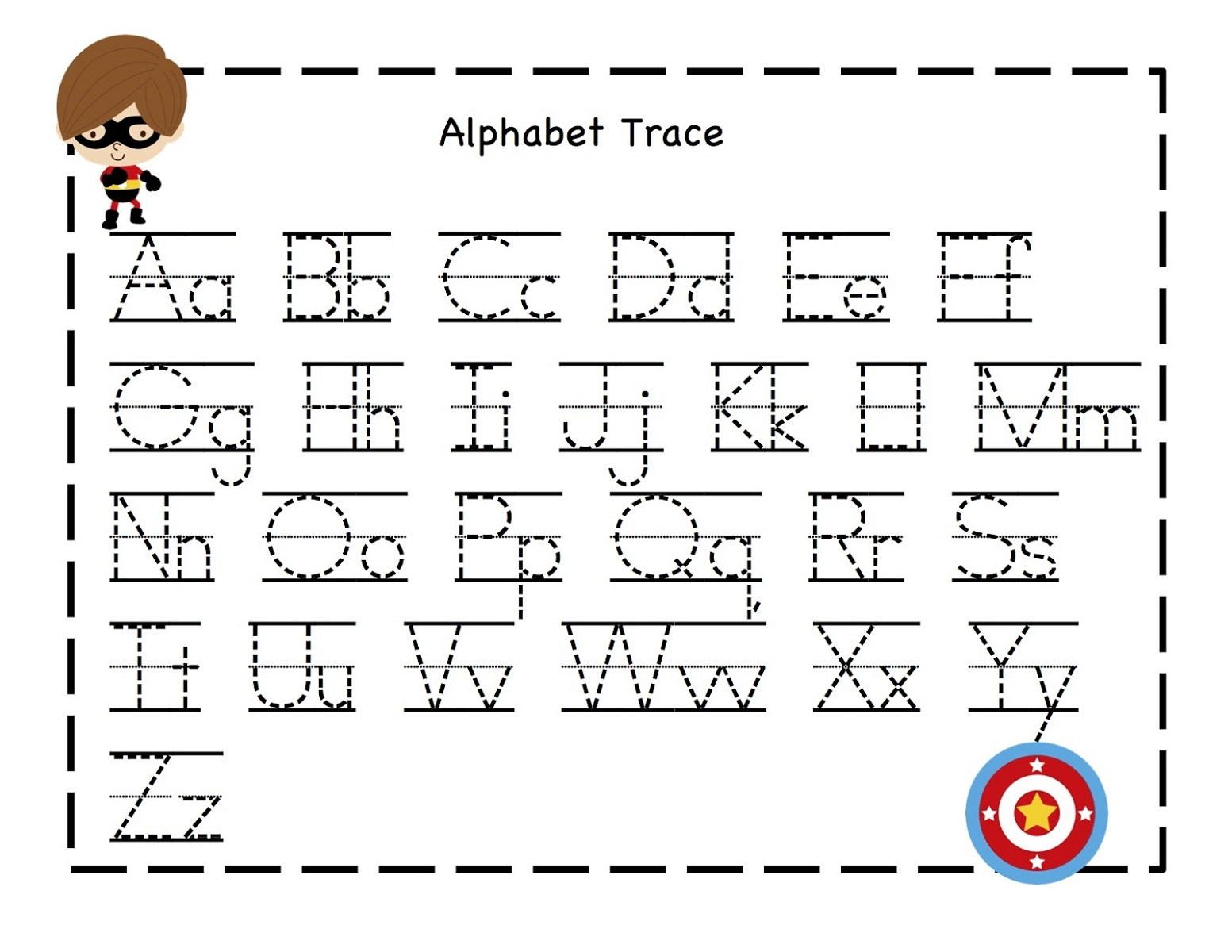 Worksheets Abc Writing printable abc traceable worksheets activity shelter for kids