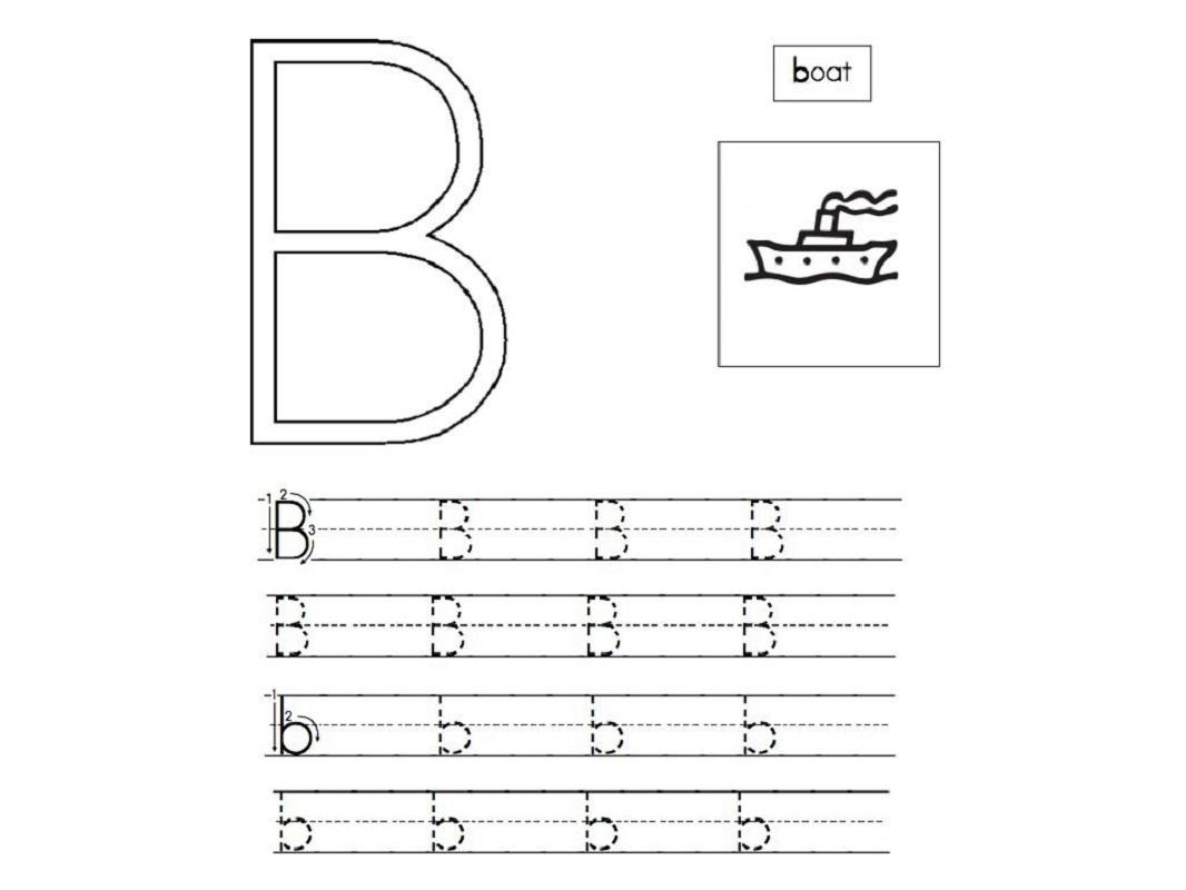 abc traceable worksheets letter B