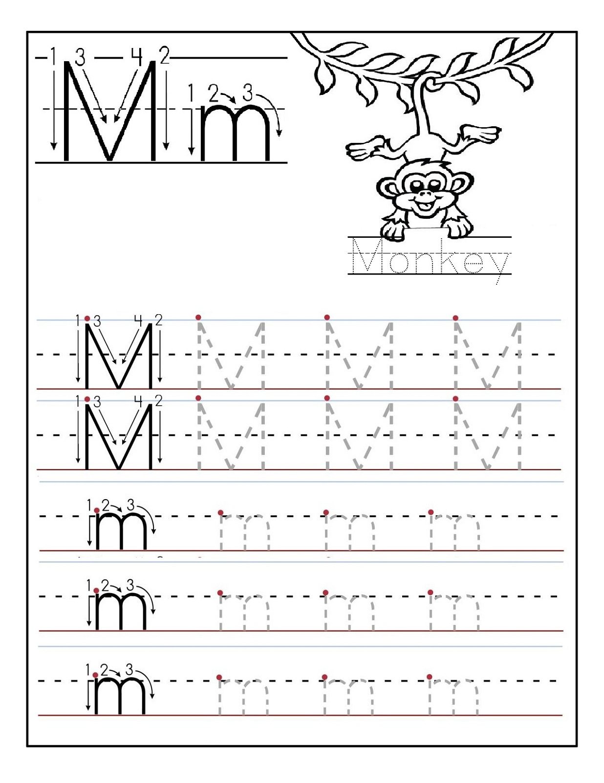 Letter M Worksheets – Letter M Worksheets for Kindergarten