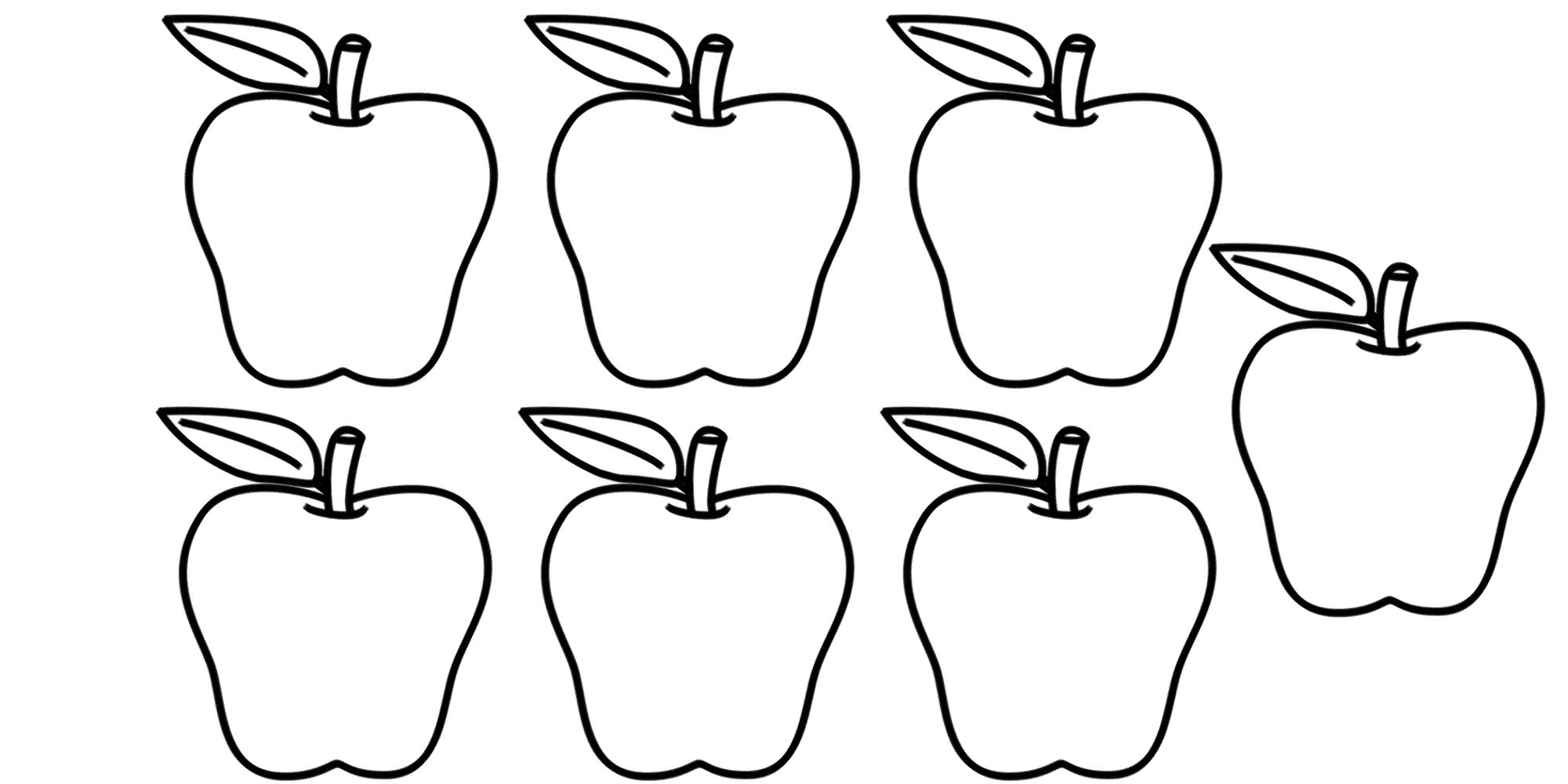 number 7 worksheet apples