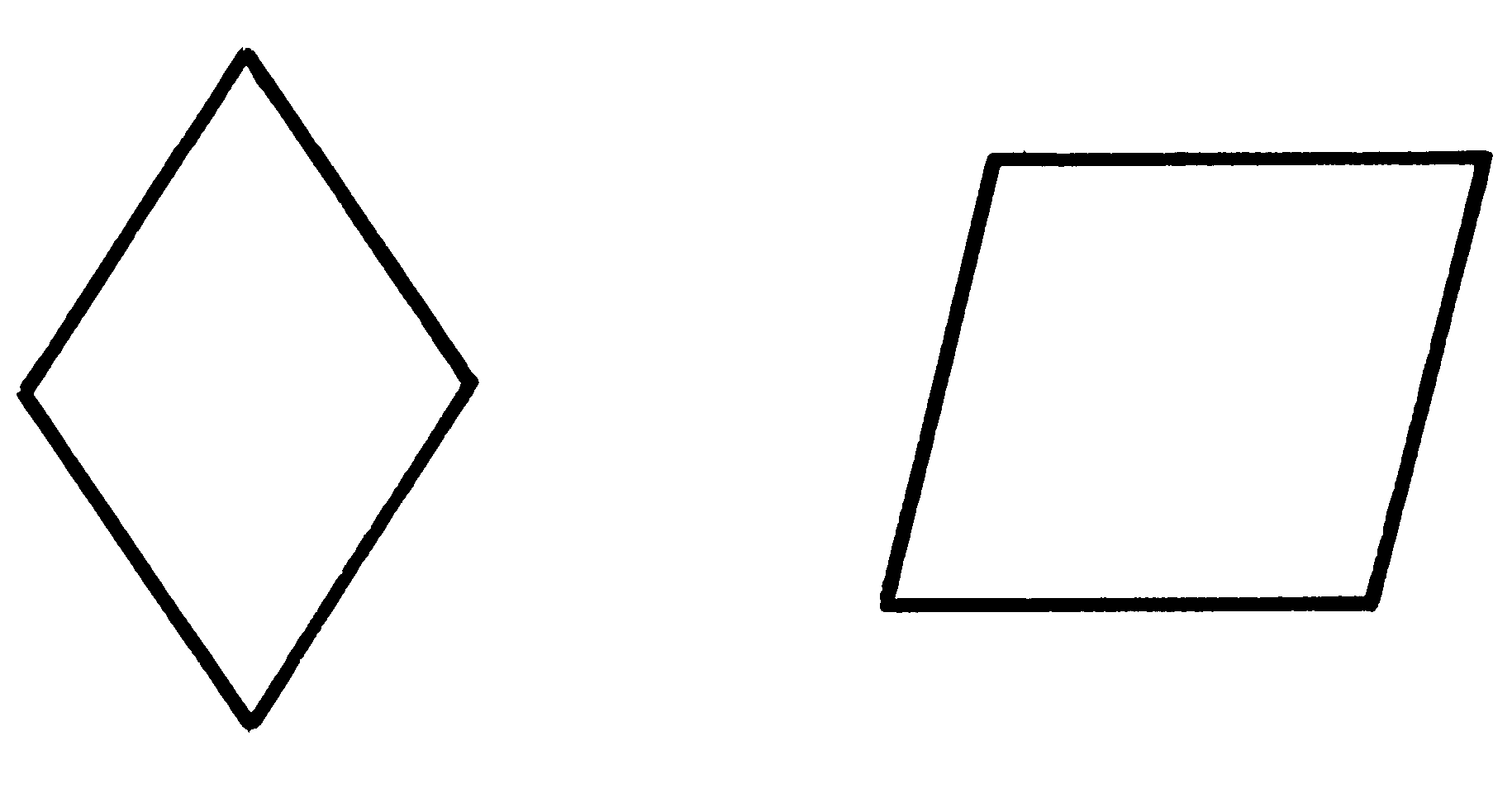 pictures of rhombus shapes printable