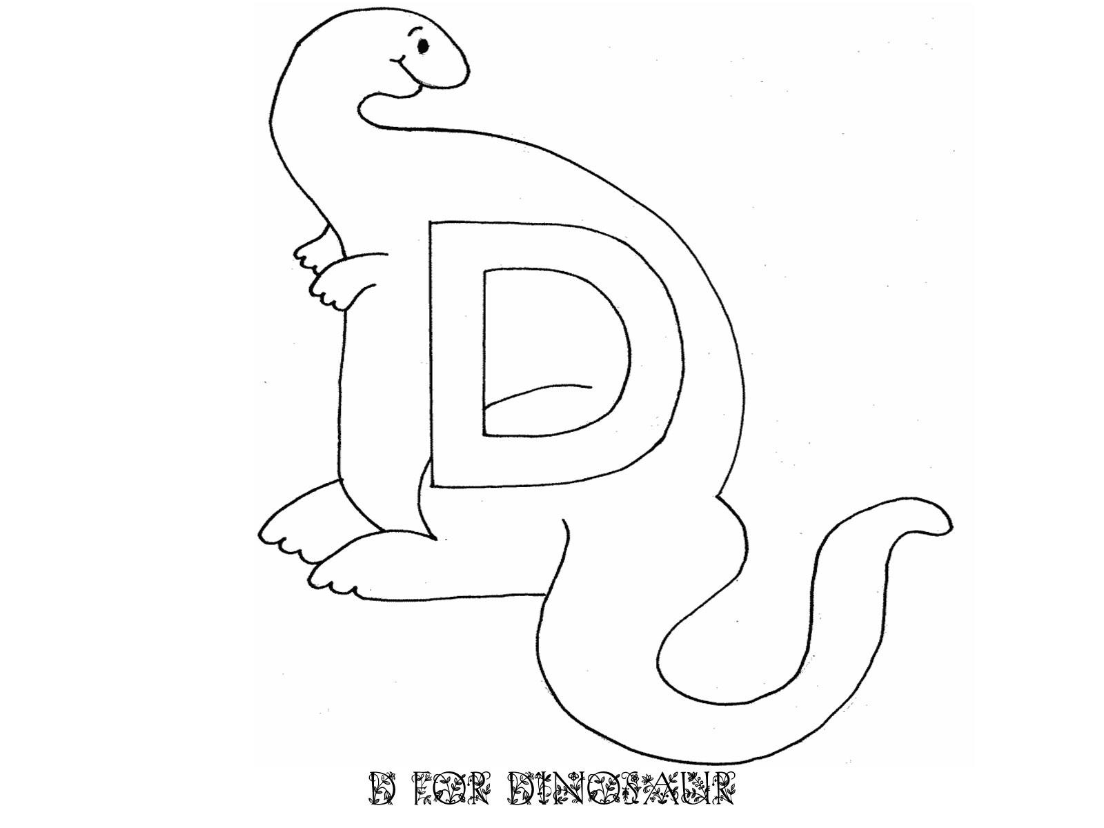 trace letter d dinosaur