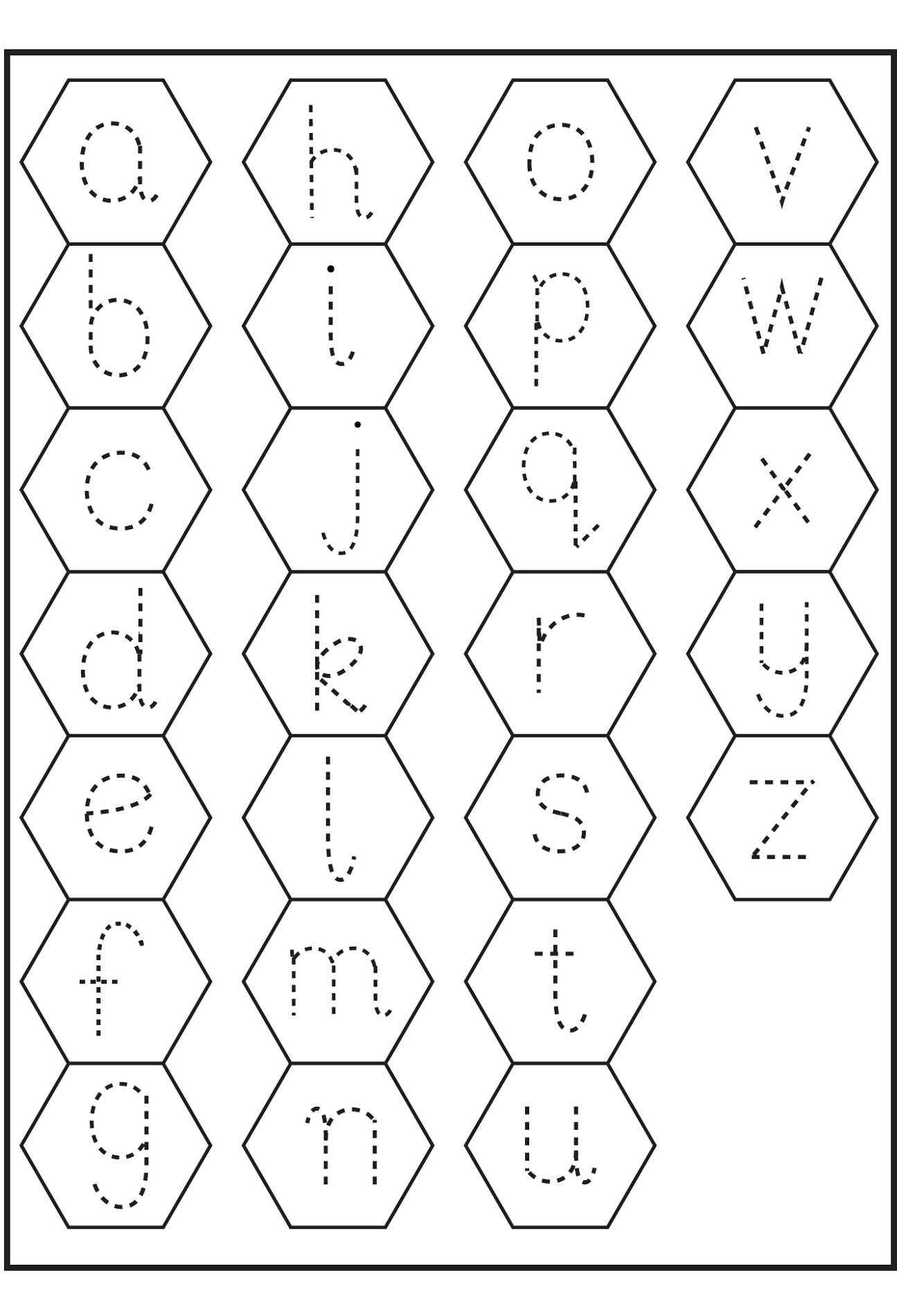 trace letter d for kids