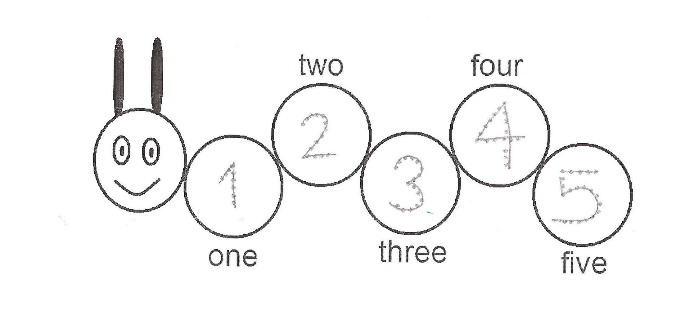 trace number 2 worksheets