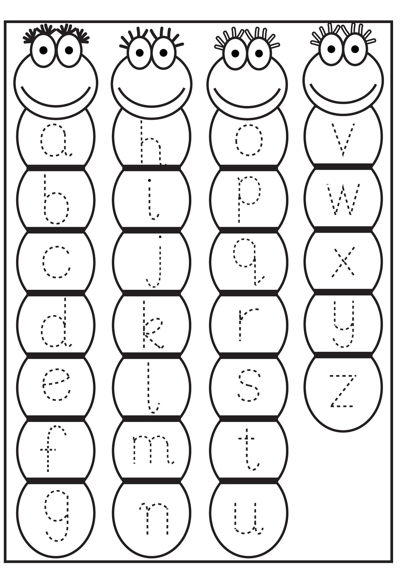 traceable letter a worksheet