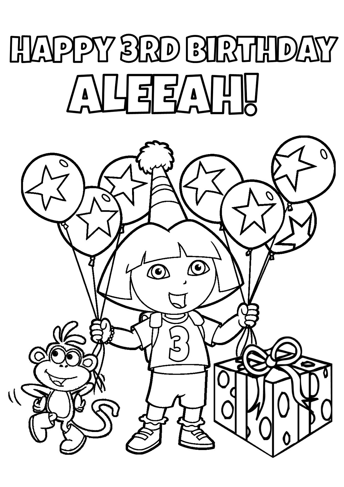 Birthday color pages for kids activity shelter for Birthday coloring page