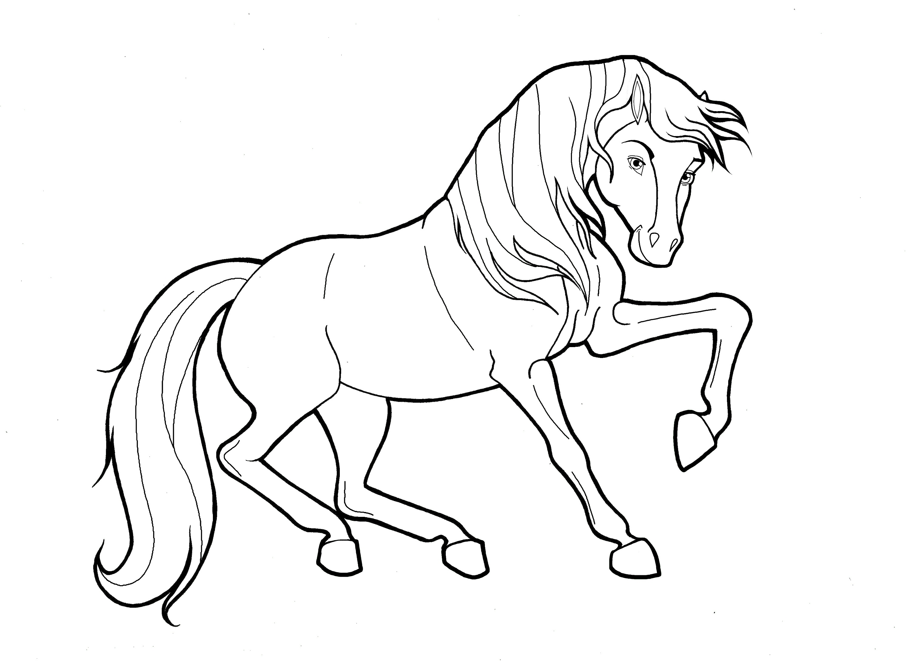 running horse pictures to color