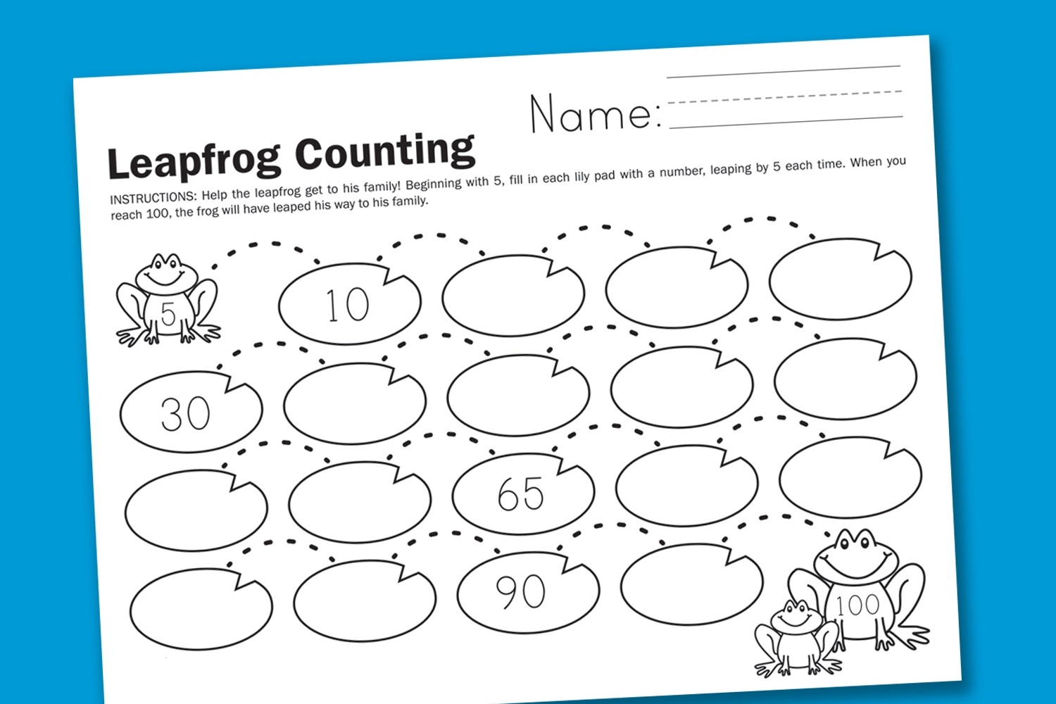 K 5 Worksheets : Count by s worksheets printable activity shelter