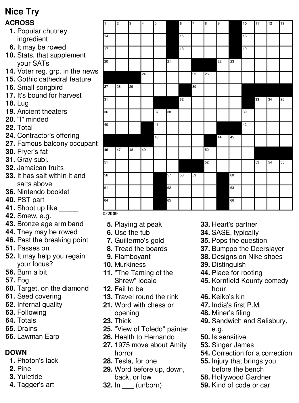 It is a picture of Remarkable Free Printable Crossword Puzzles With Answers