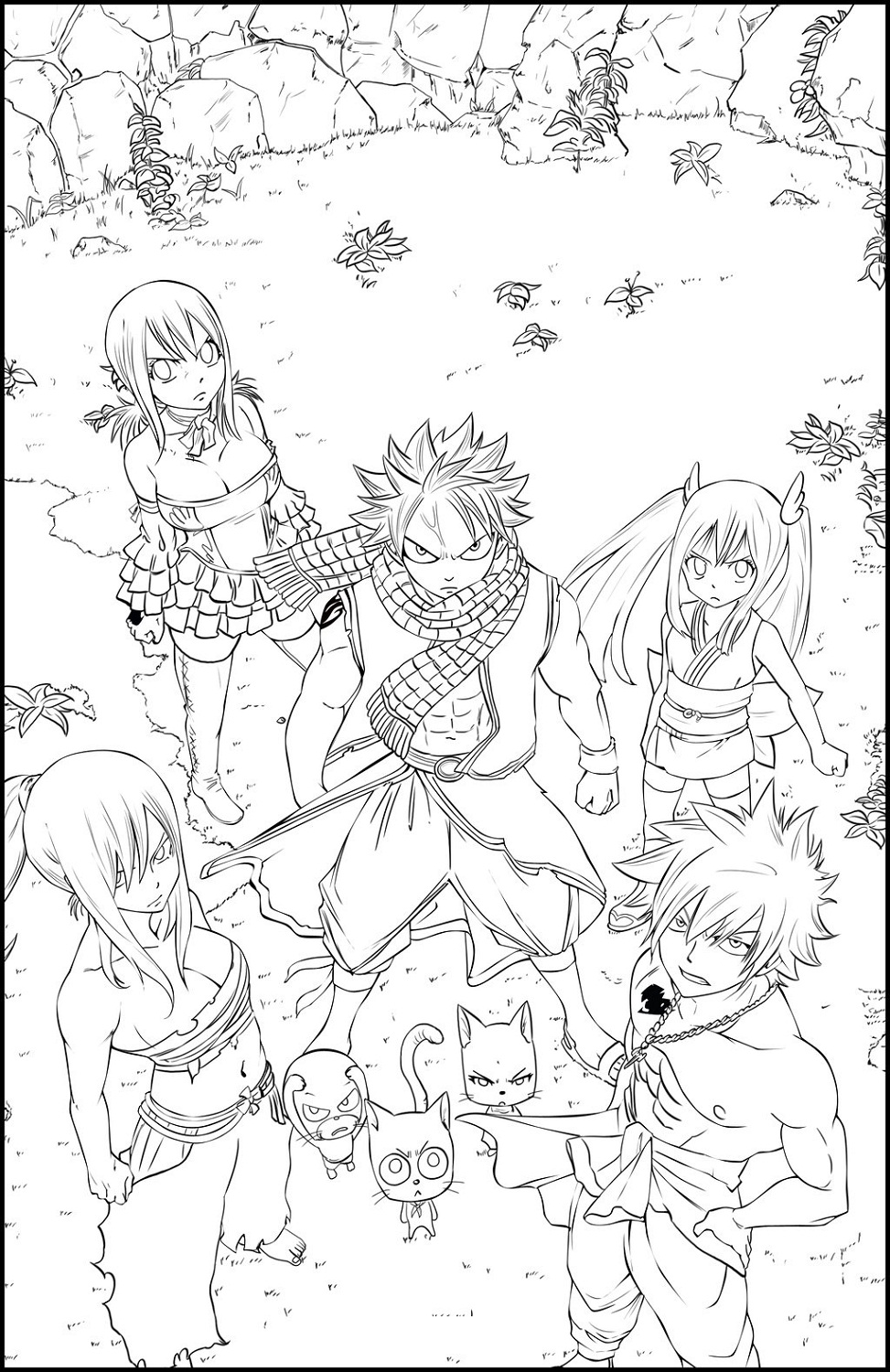 Fairy tale color pages activity shelter - Dessin anime de fairy tail ...