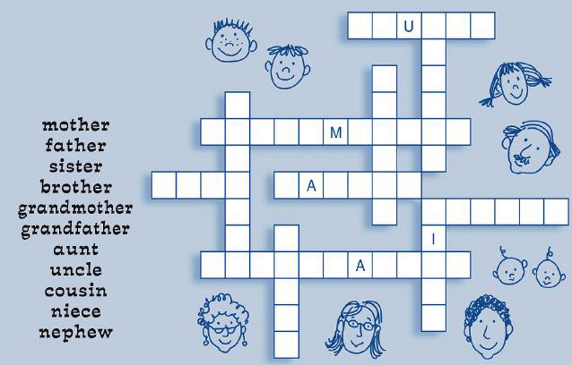Free Crosswords for Kids | Activity Shelter