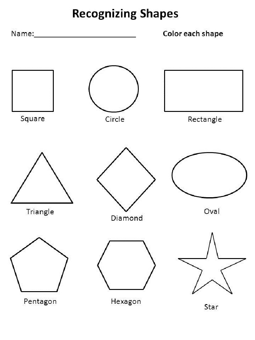 Free Shapes Worksheets | Activity Shelter