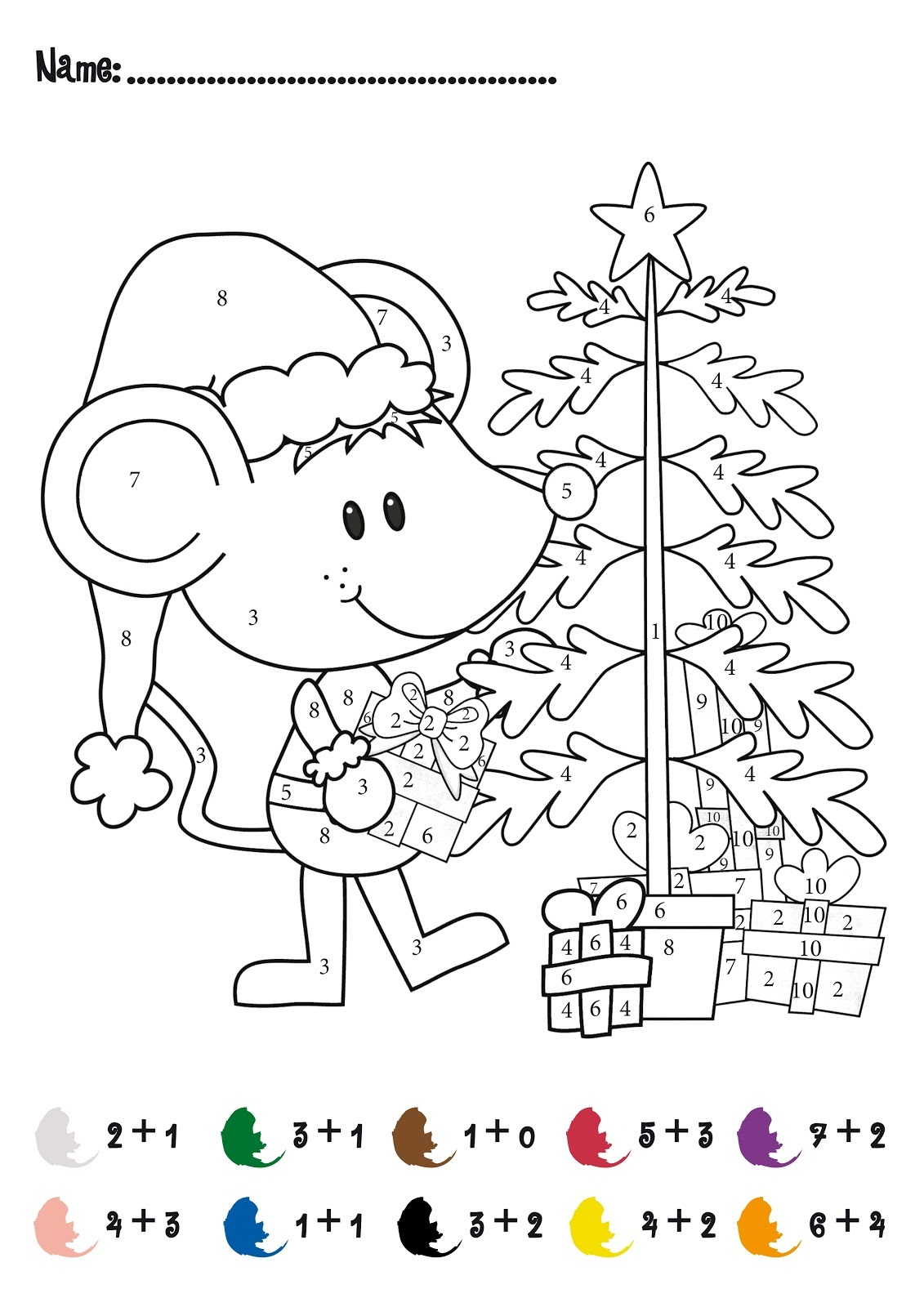 math worksheet : free fun math pages  activity shelter : Fun Christmas Math Worksheets