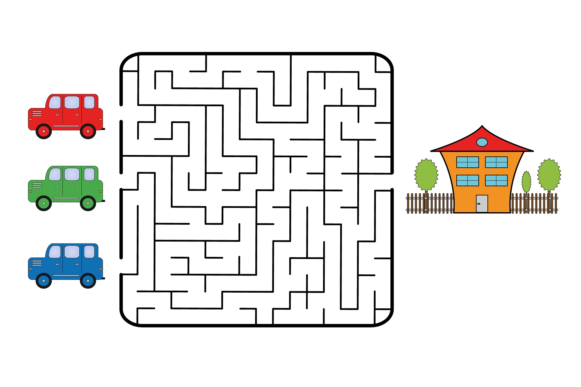 fun mazes for kids car