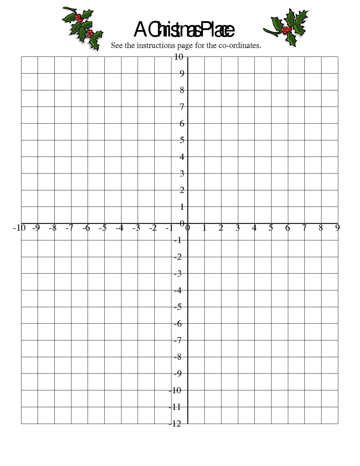 Free Math Grid Worksheets – Math Grid Worksheets