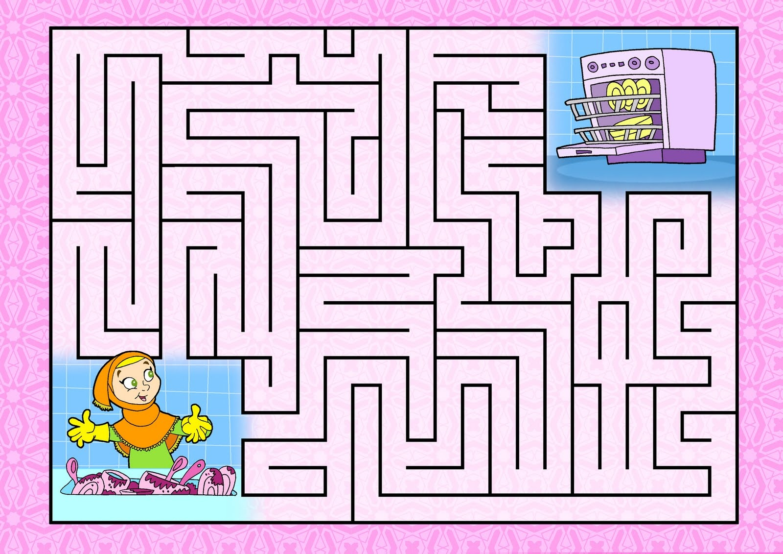 This is a photo of Satisfactory Kids Printable Mazes
