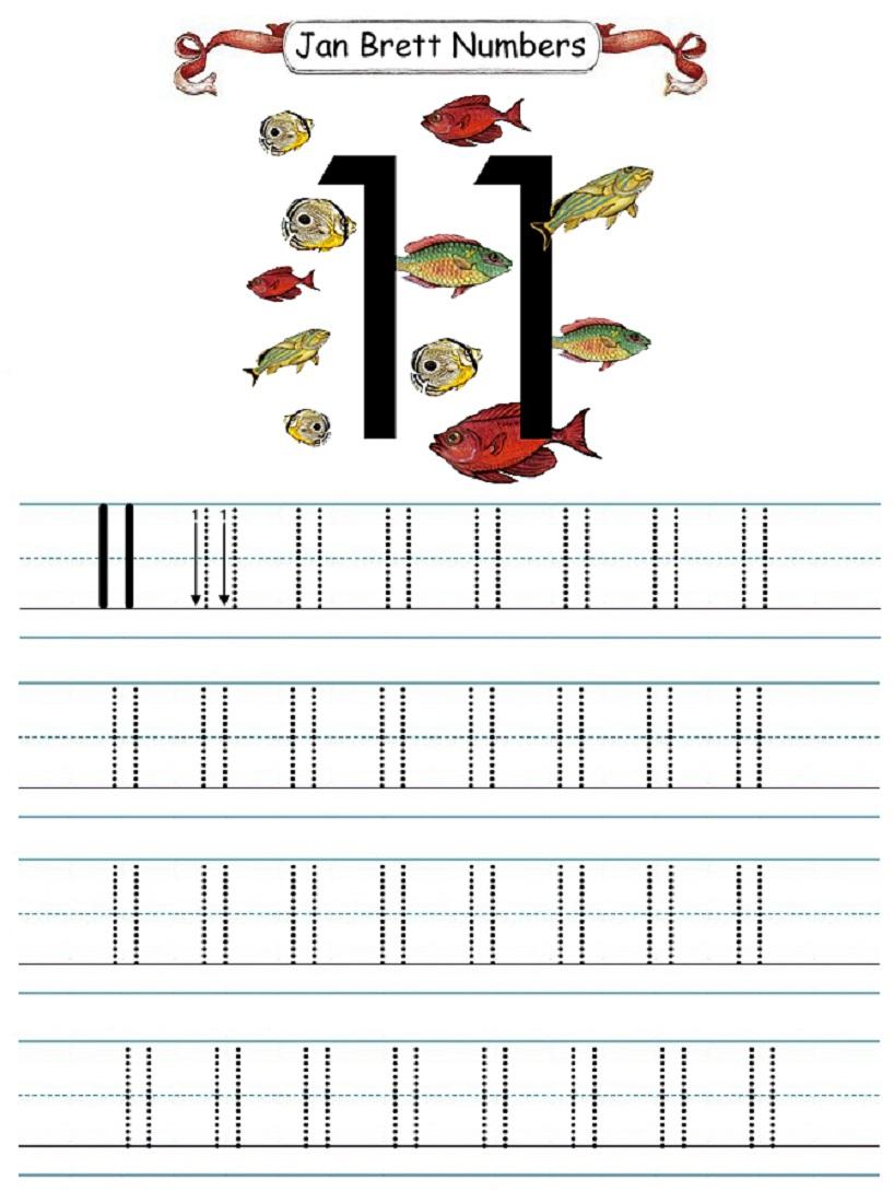 Number 11 Worksheet For Kindergarten