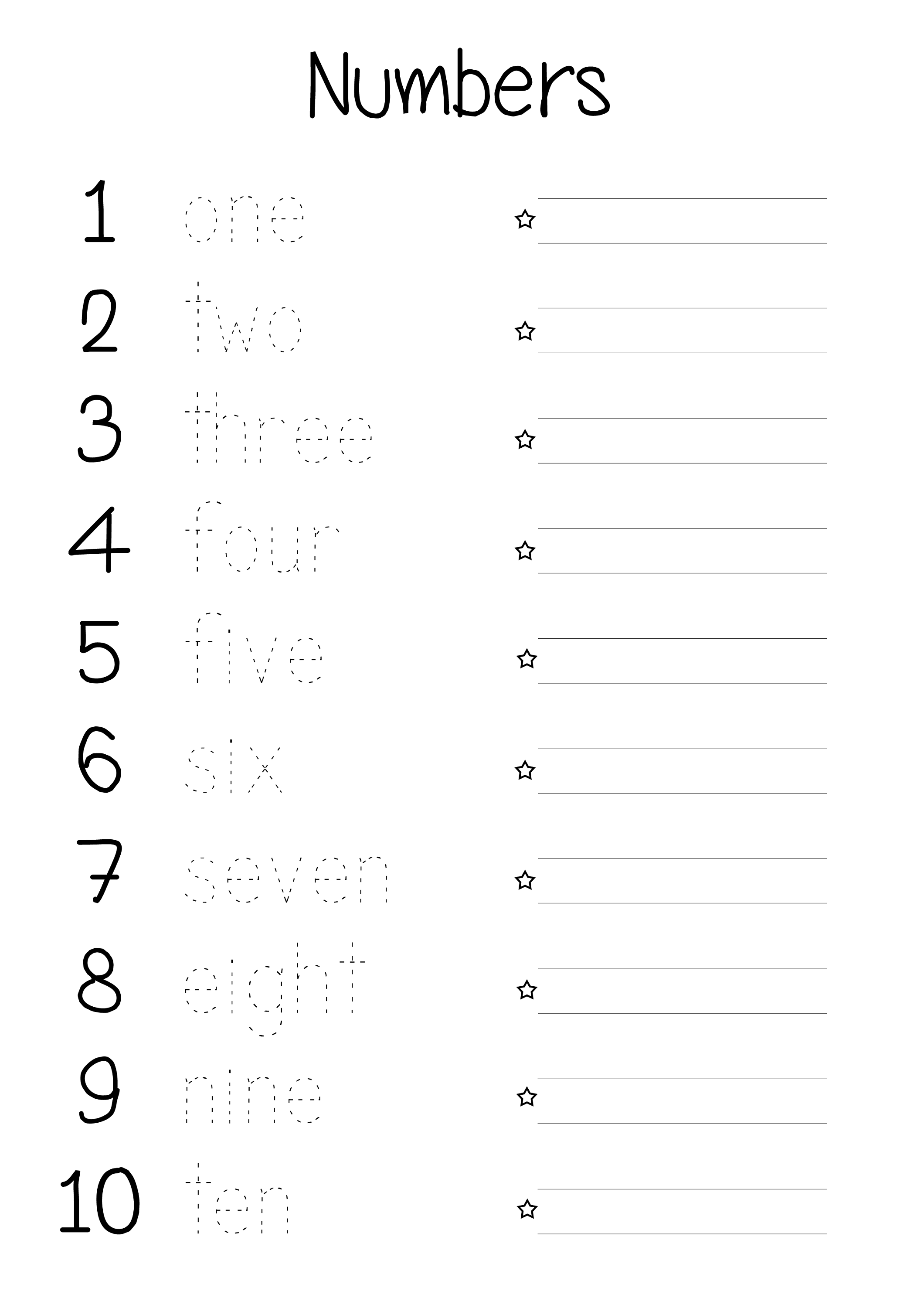 Printable Number Words Worksheets | Activity Shelter