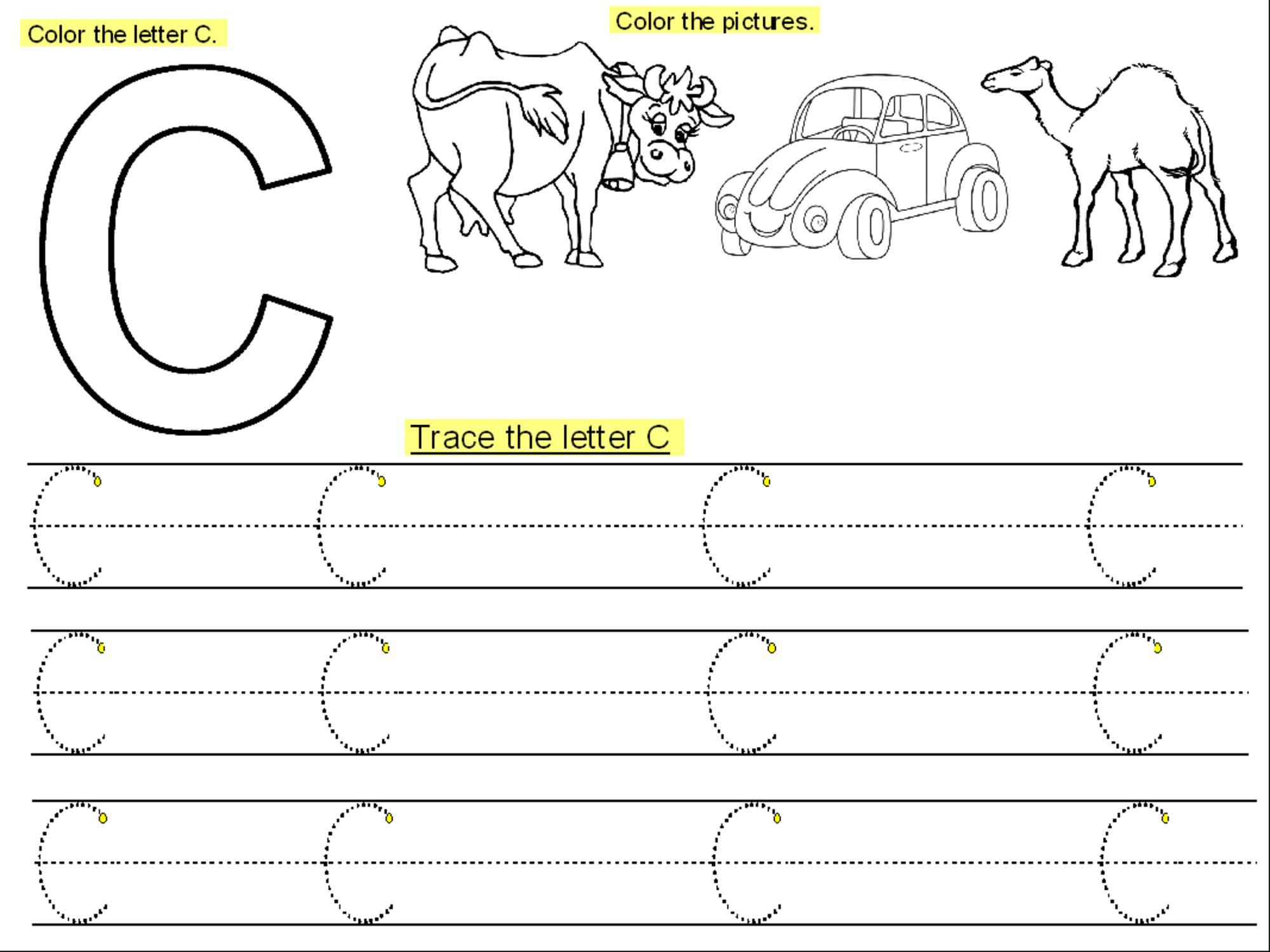- Trace The Letter C Worksheets Activity Shelter