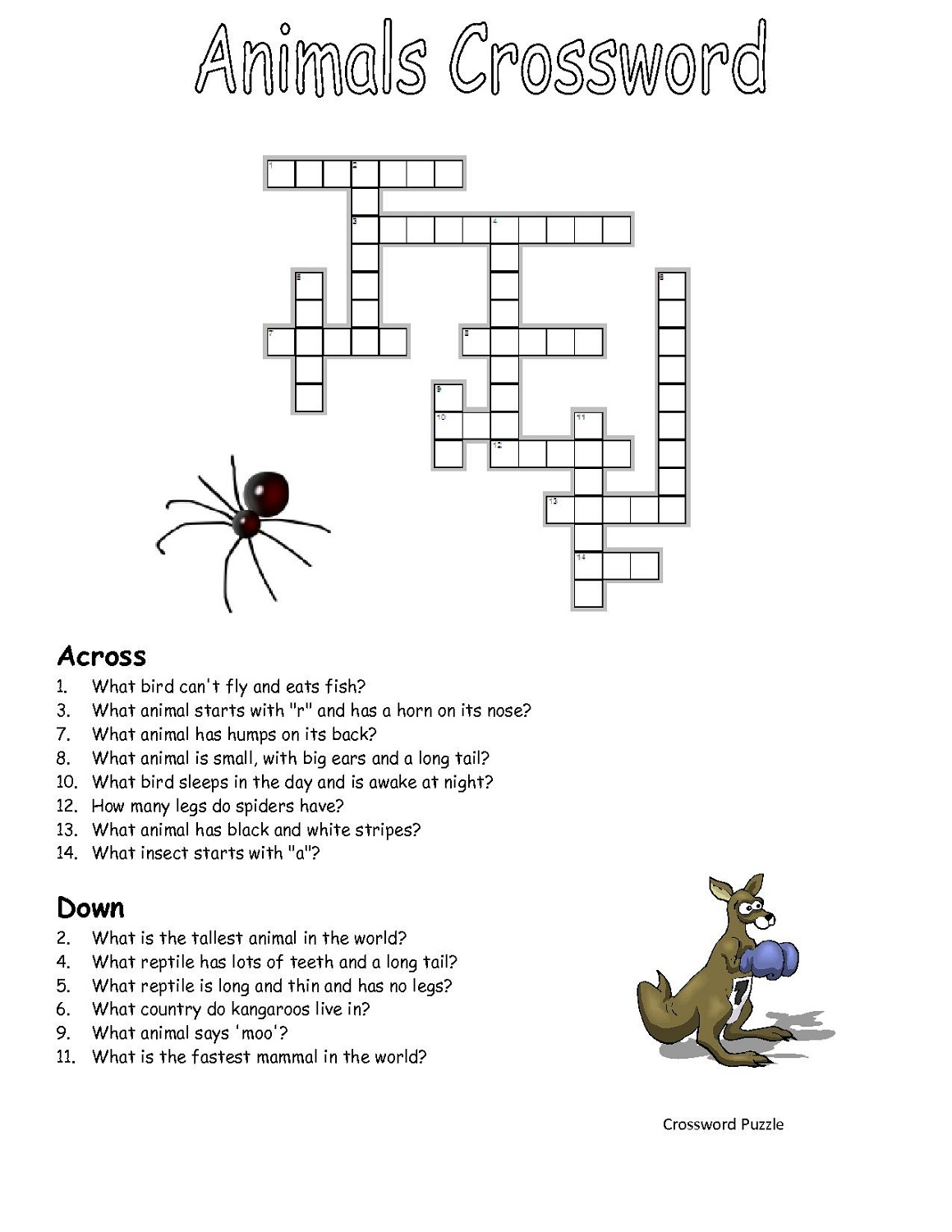 image regarding Simple Crossword Puzzles Printable named Printable Crosswords Puzzles Small children Sport Shelter