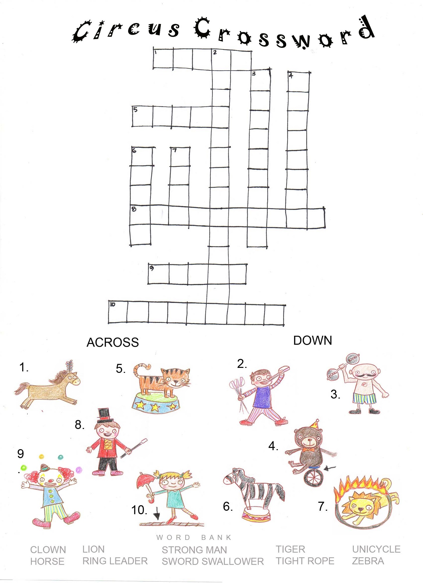 Printable Crosswords Puzzles Kids | Activity Shelter