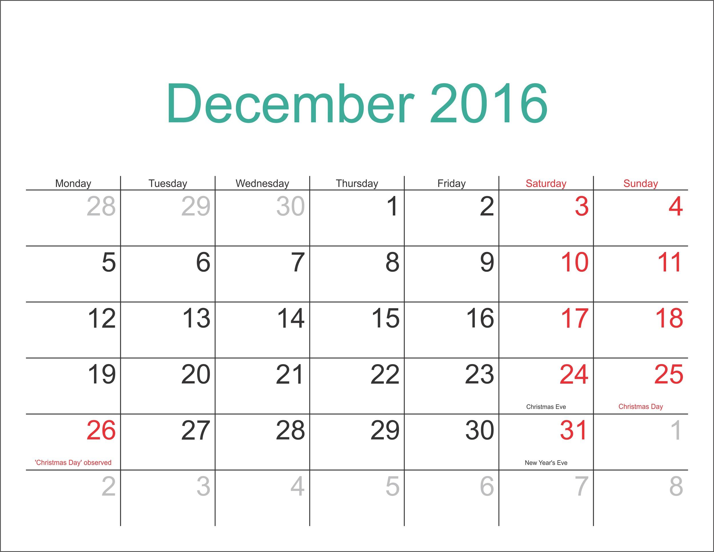 december-2016-calendar-flat
