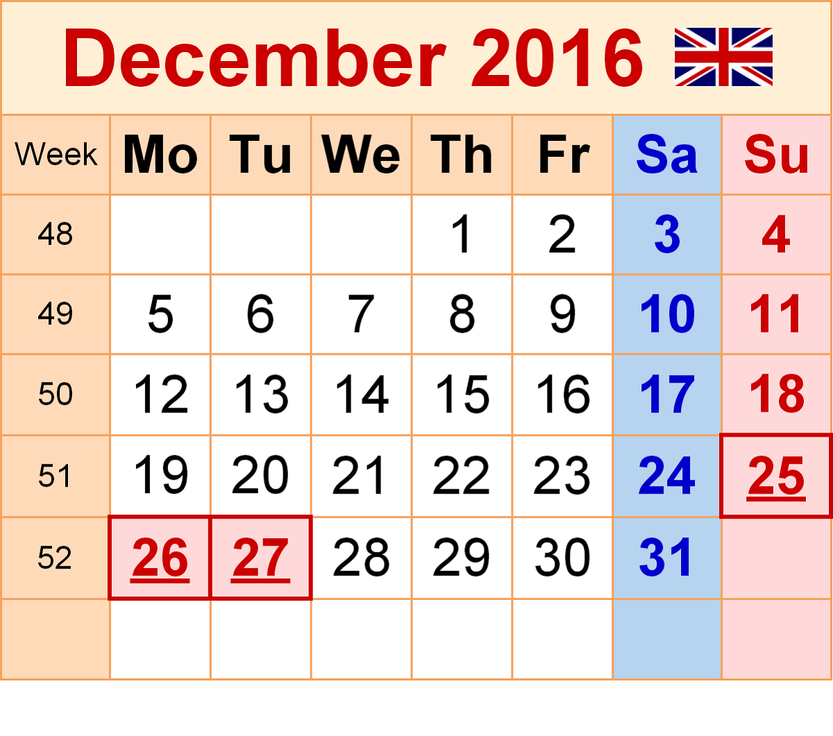 december-2016-calendar-uk