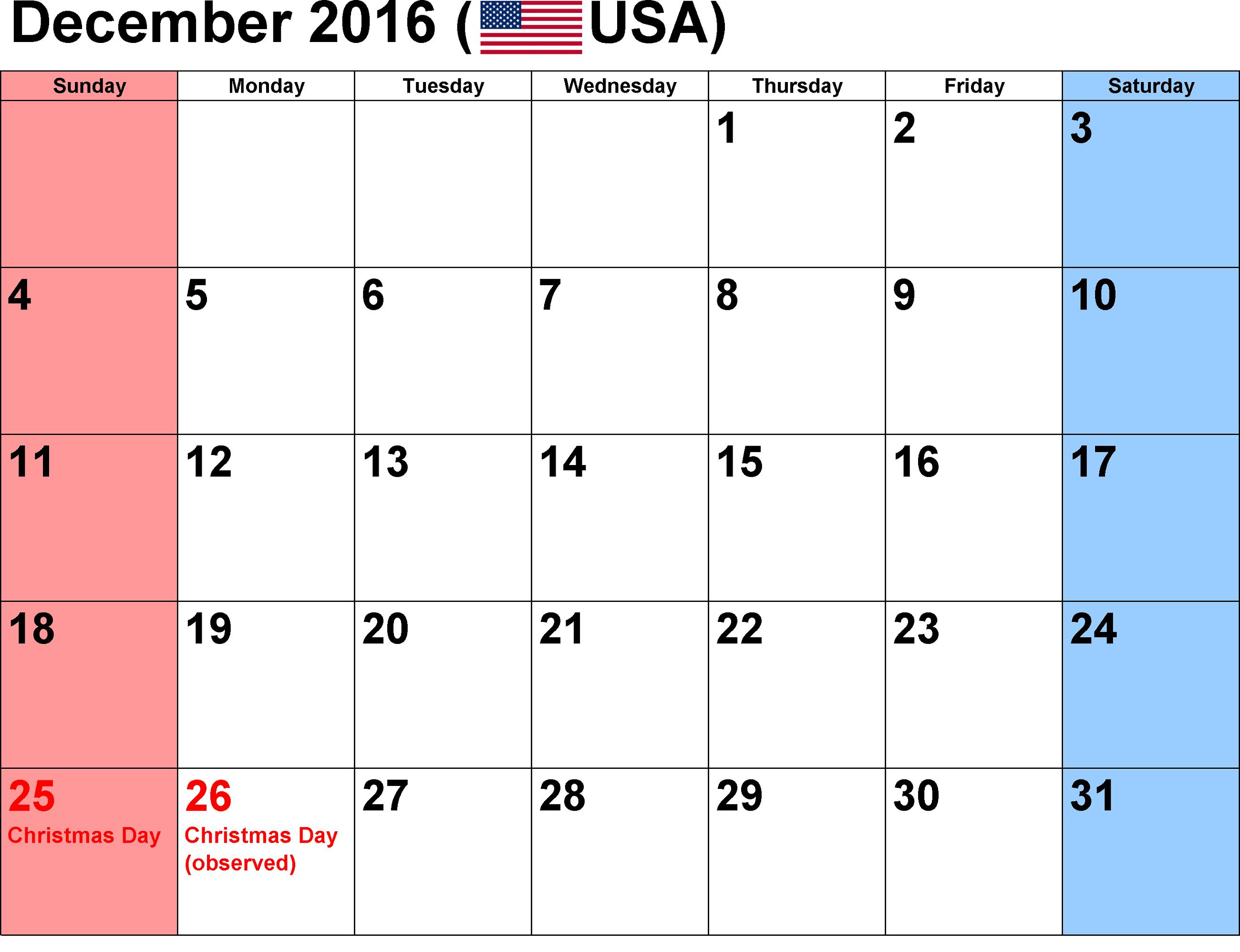 december-2016-calendar-usa