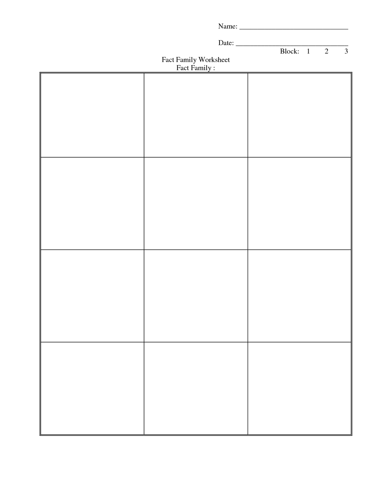 family-facts-worksheets-blank