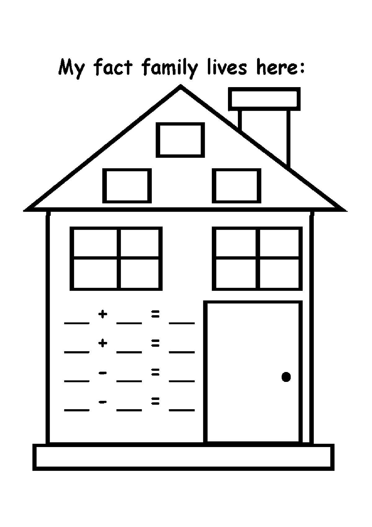 family-facts-worksheets-house