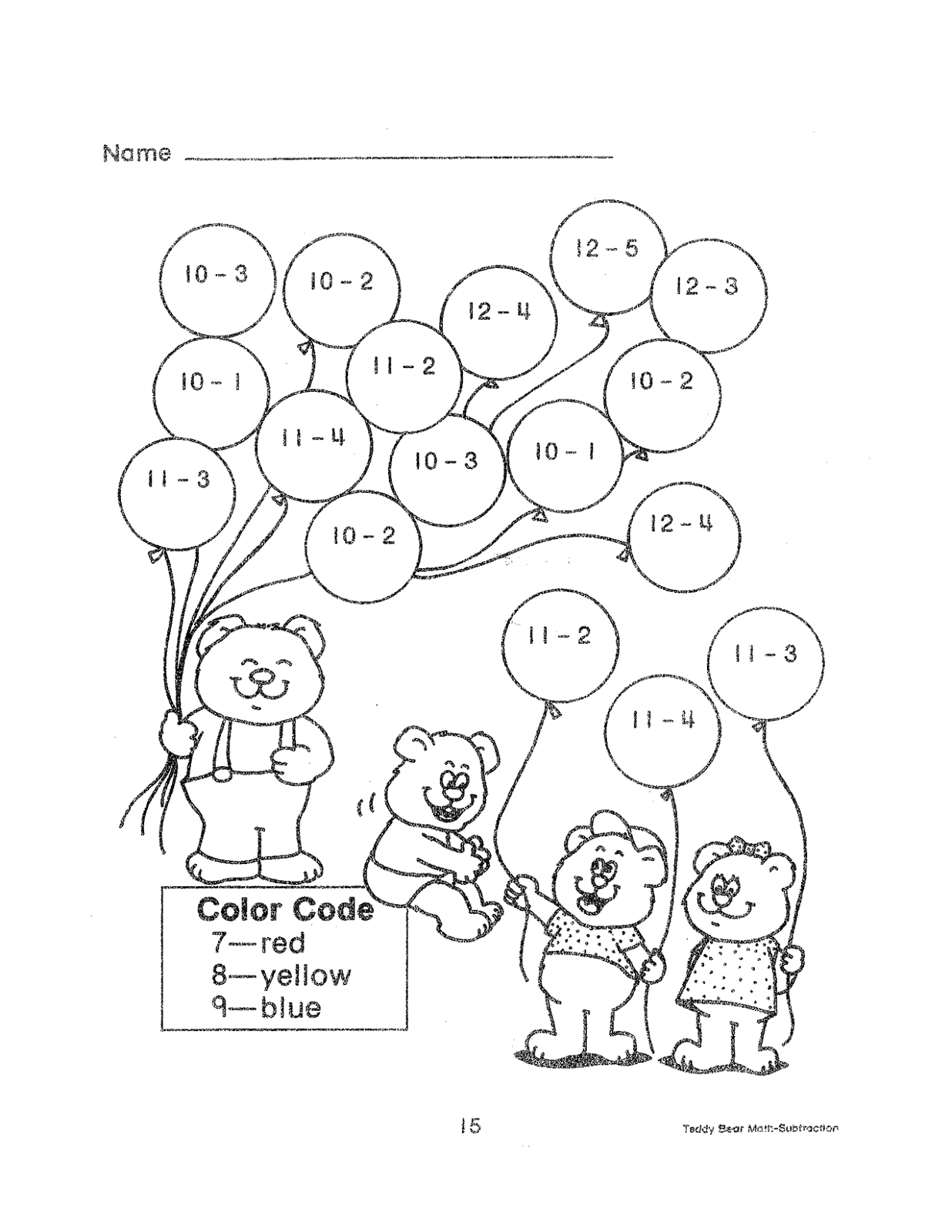 2nd Grade Math Color By Number Coloring Pages Sketch ...