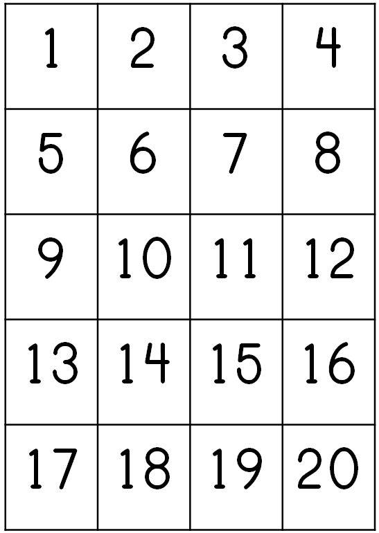 number-chart-1-20-printable