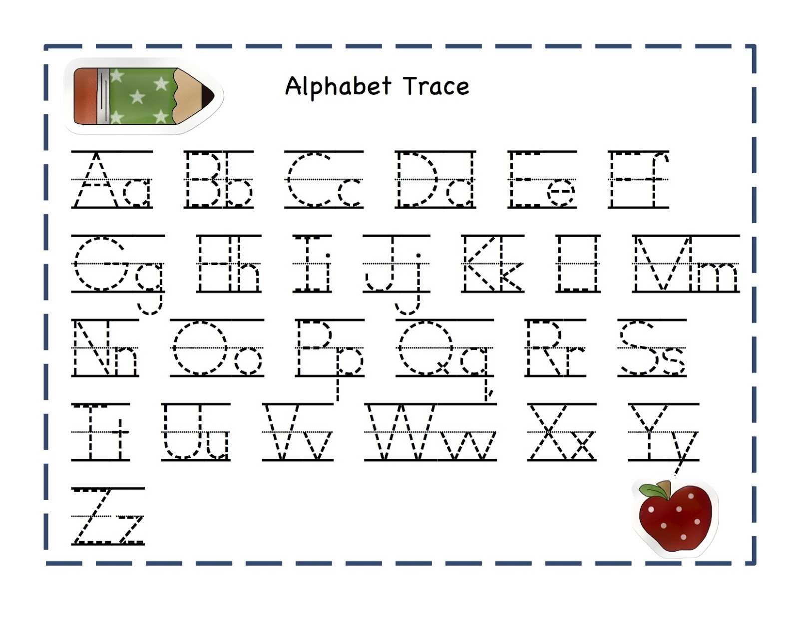 Alphabet Writing Worksheets : Trace letters worksheets activity shelter