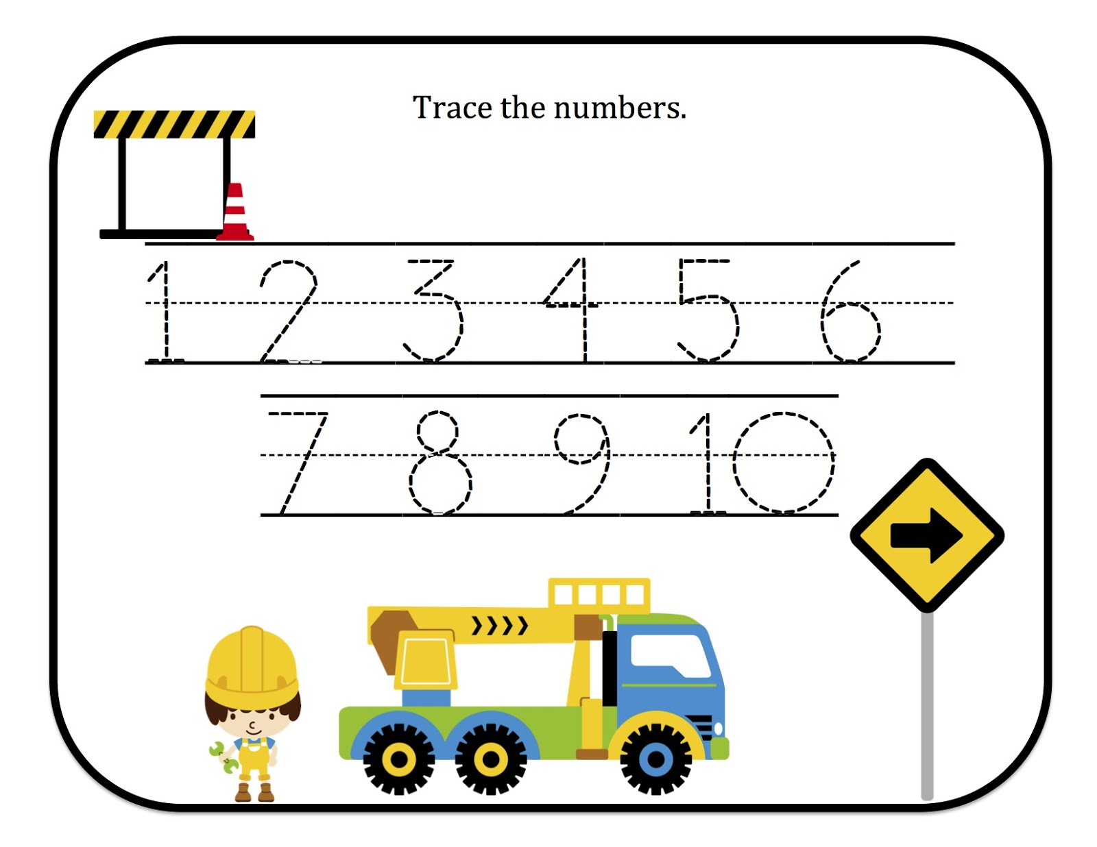 worksheet. Tracing Numbers 1-10. Debnamcareyweb Worksheets for ...