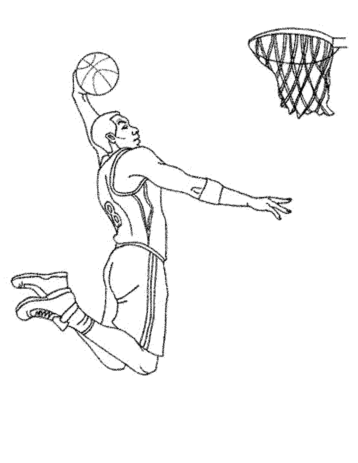 Basketball Team Coloring Pages Coloring And Drawing